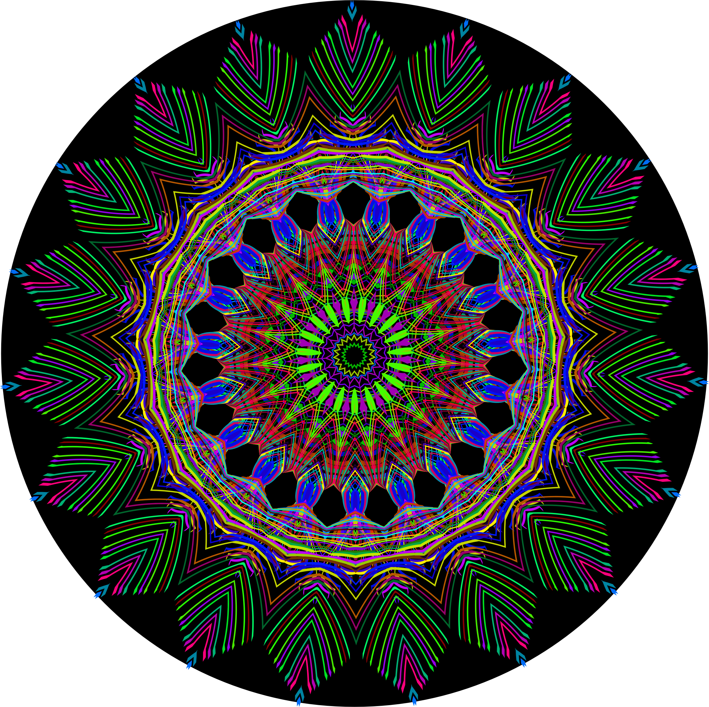 Psychedelic Geometric 7 With Background by GDJ