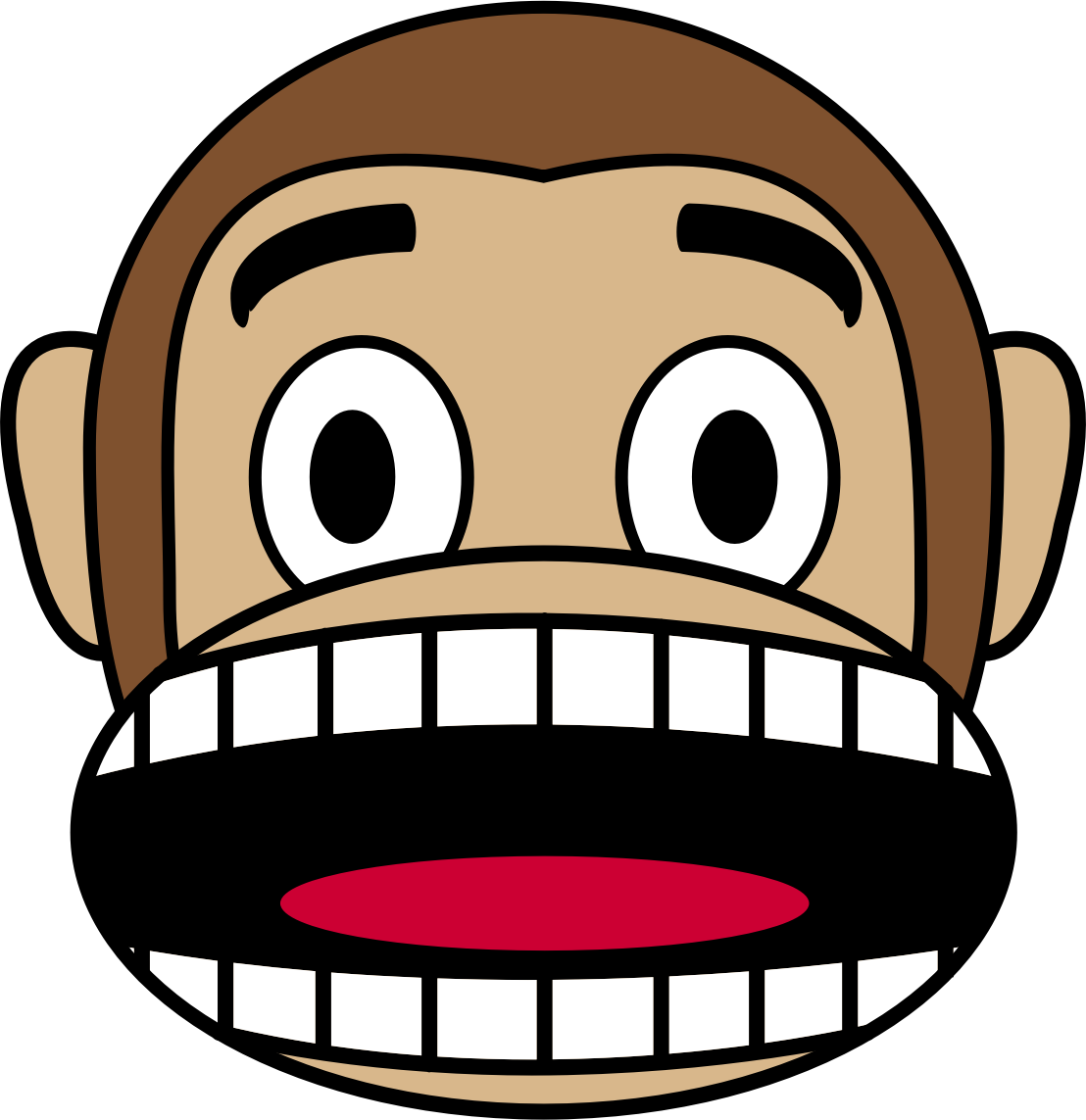 Monkey Emoji - Fearful by buzzbomb