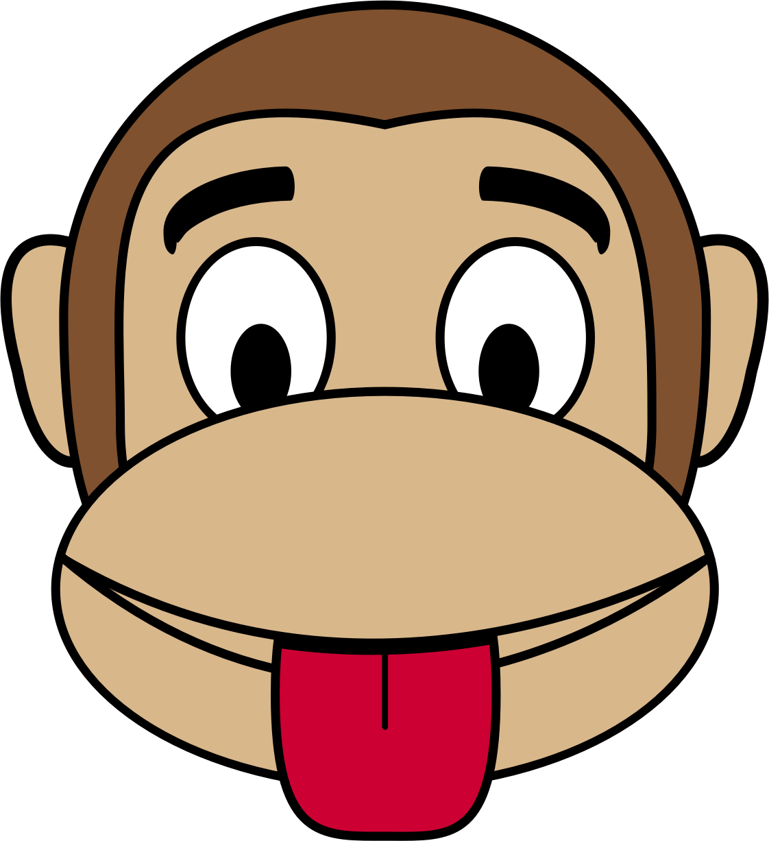 Monkey Emoji - Tongue out by buzzbomb