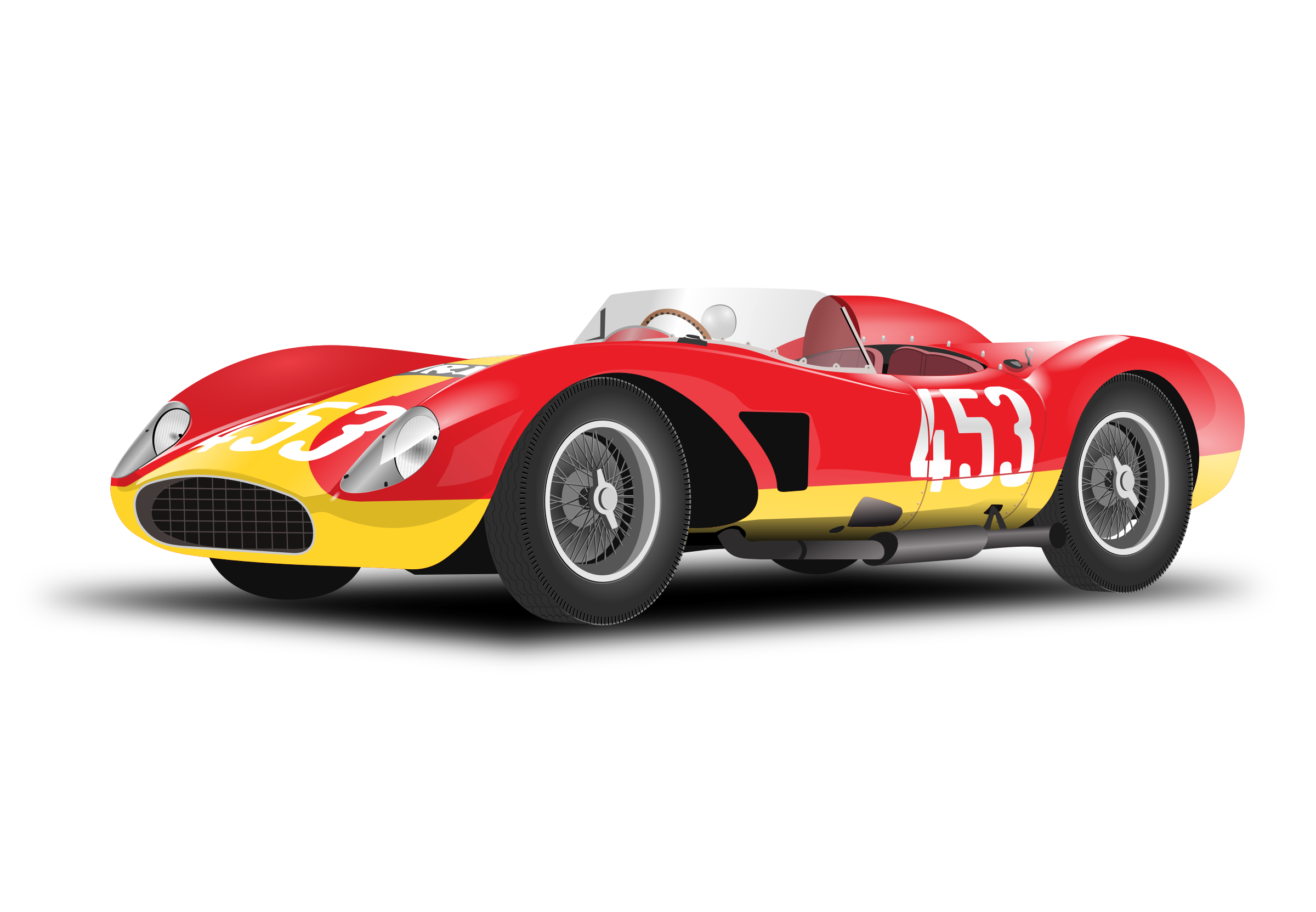 Clipart Red Racing Car No Logo