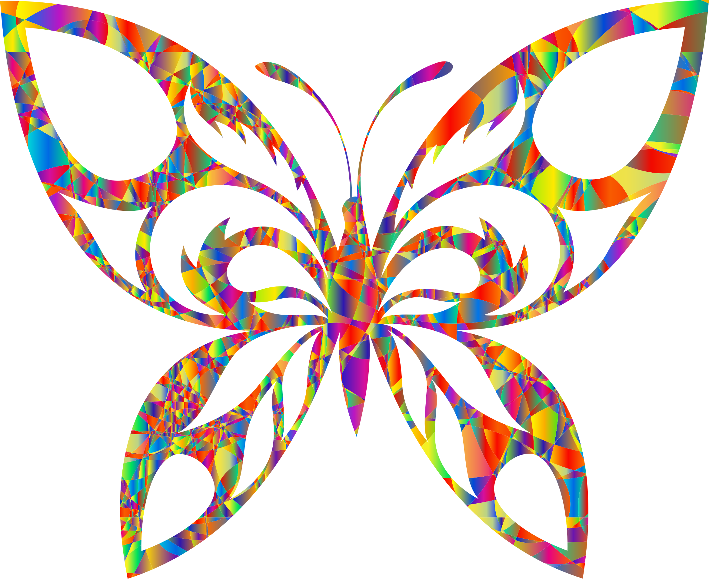 Polyprismatic Magma Tribal Butterfly Silhouette by GDJ
