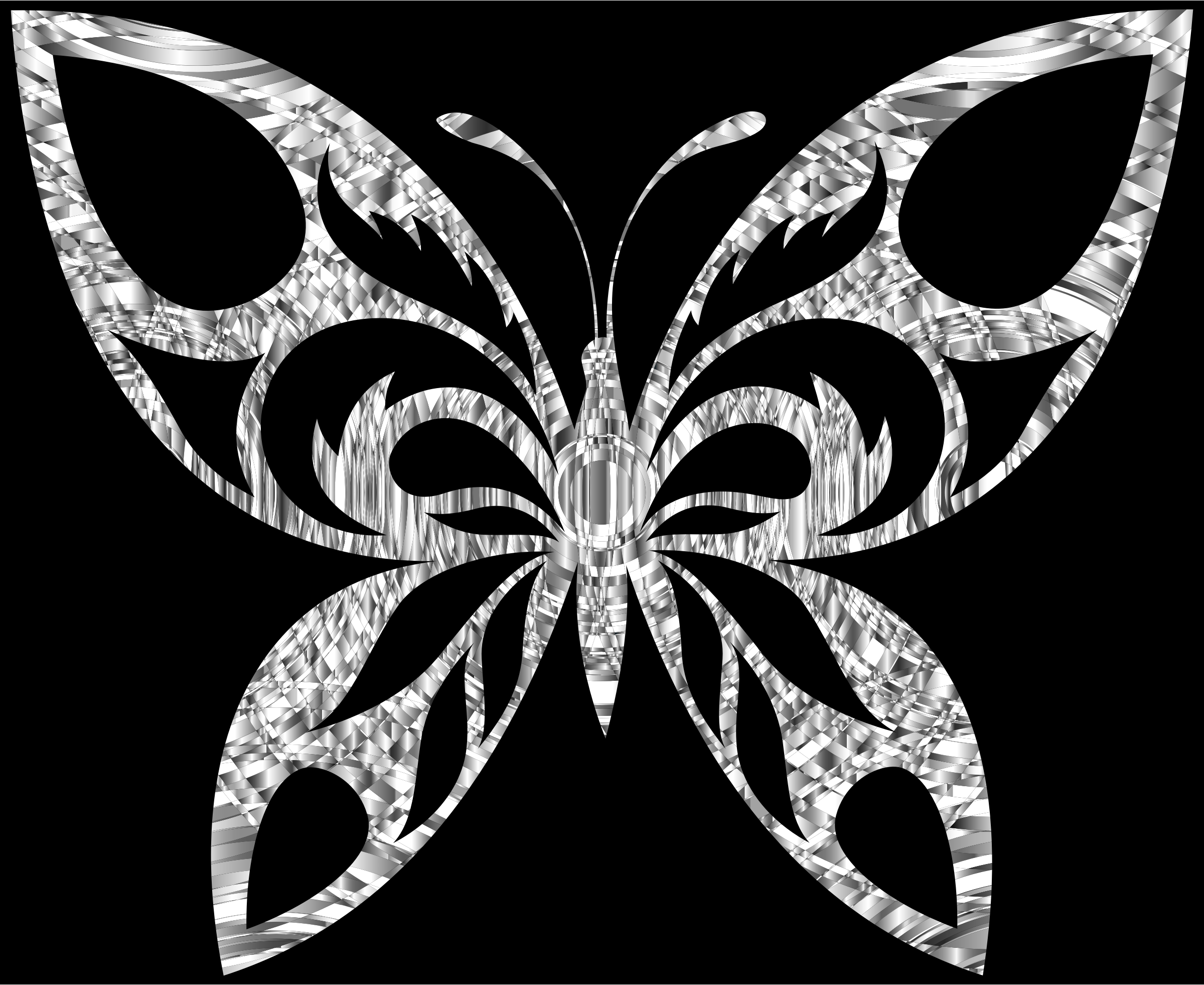 Diamond Tribal Butterfly Silhouette With Background by GDJ
