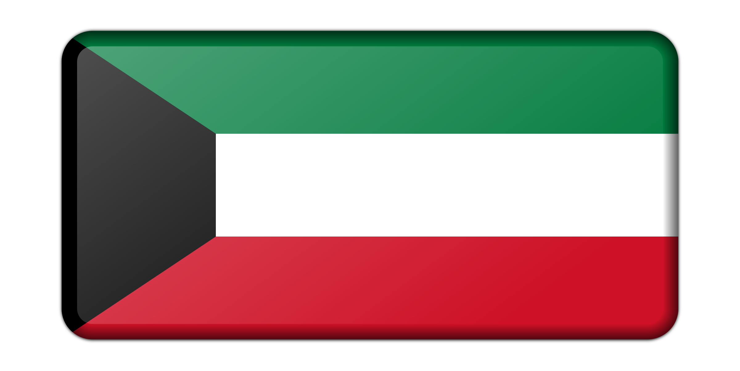 Kuwait flag (bevelled) by Firkin