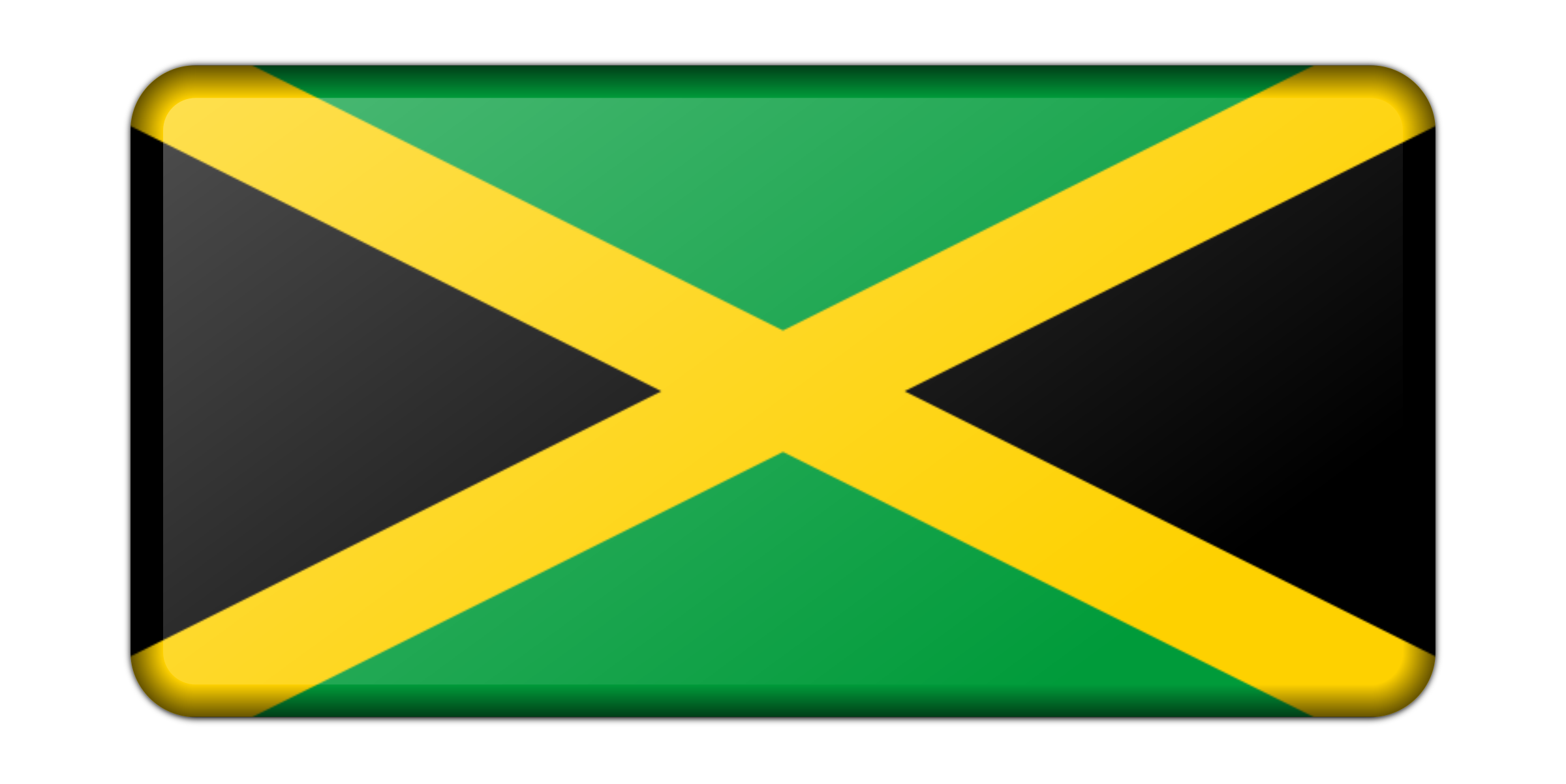 Jamaica flag (bevelled) by Firkin