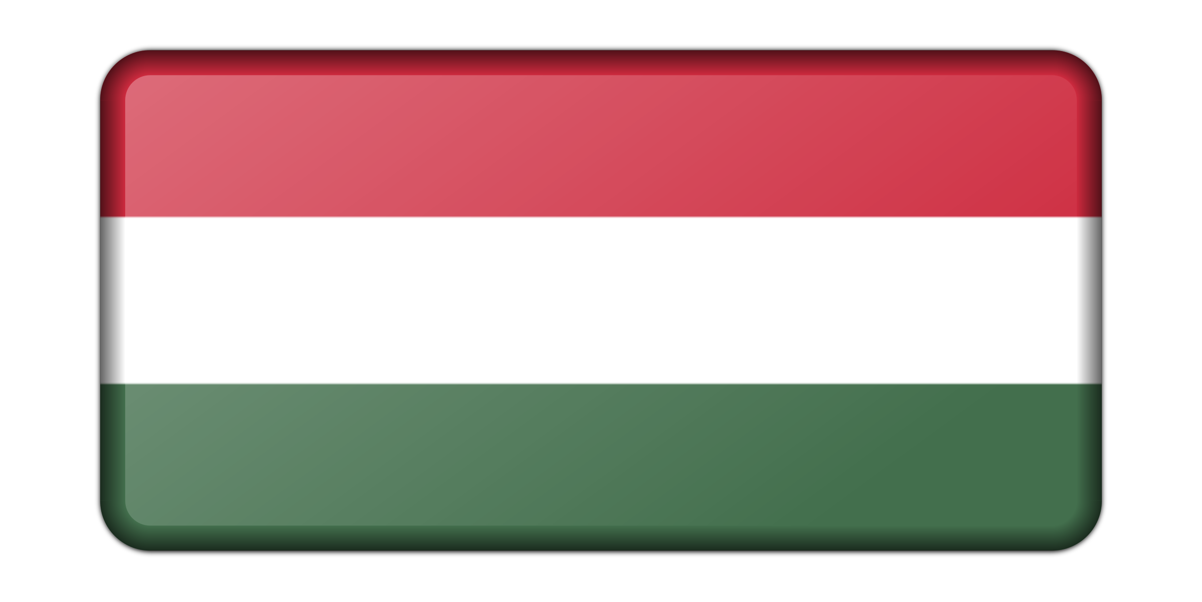 Hungary flag (bevelled) by Firkin