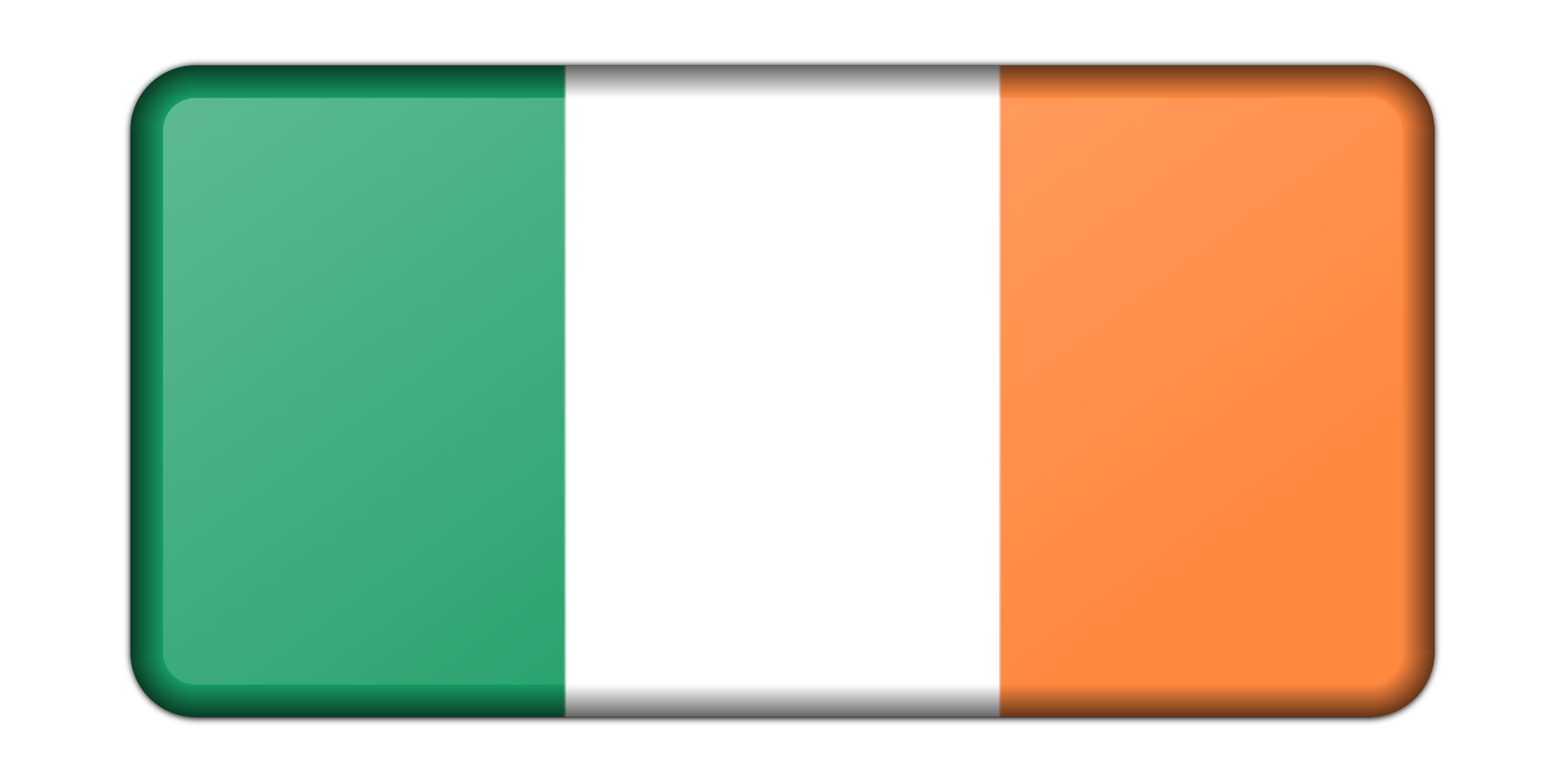Ireland flag (bevelled) by Firkin