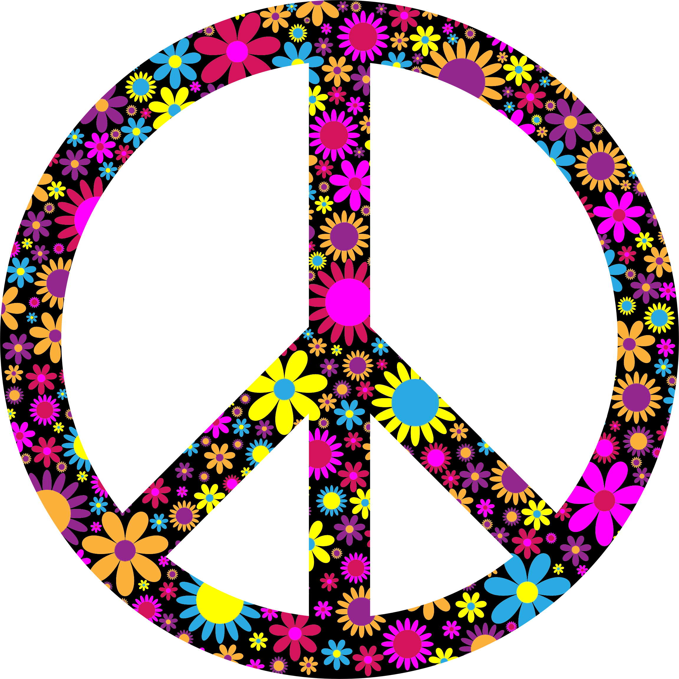 Floral Peace Sign by GDJ