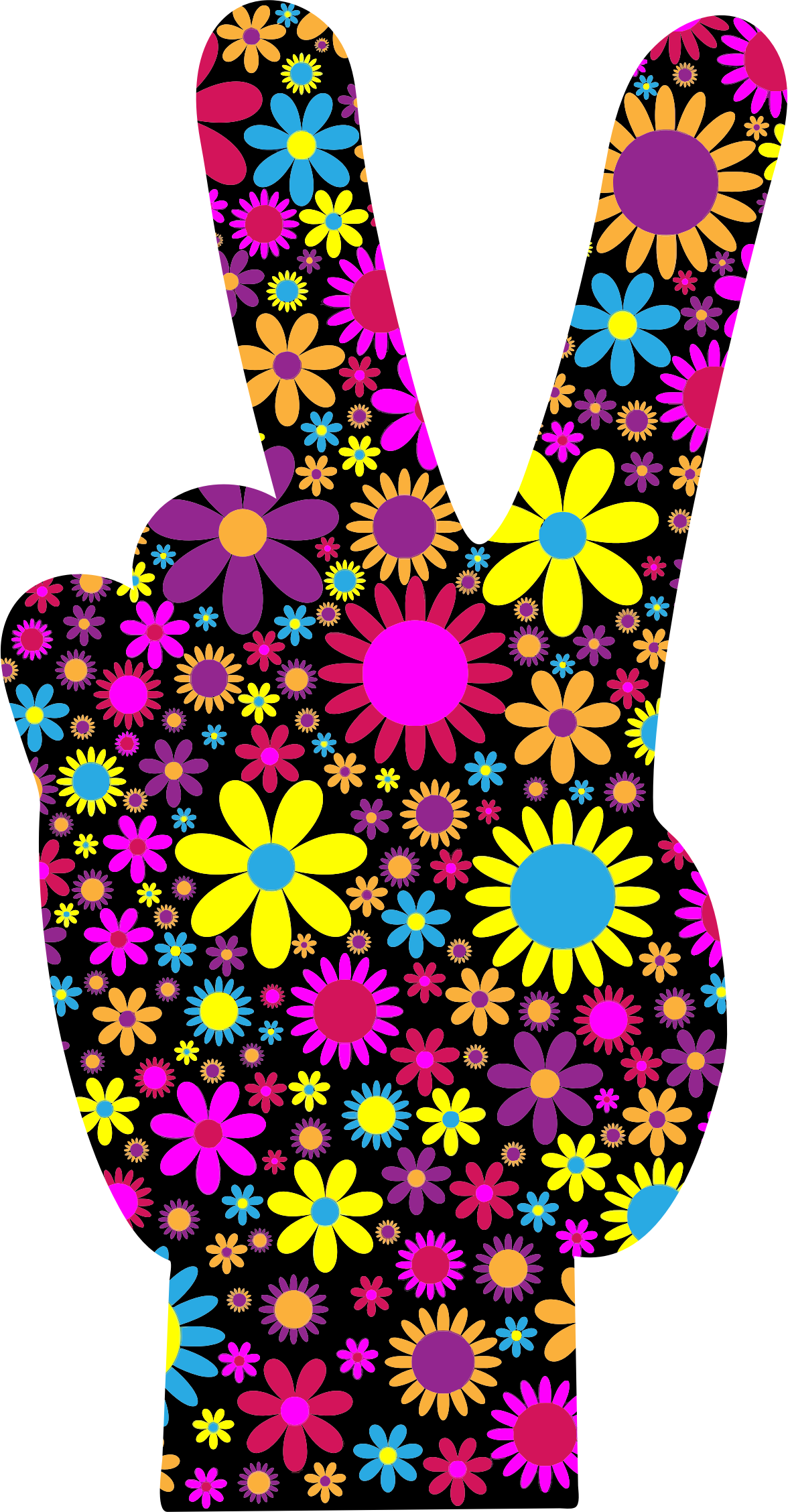 Floral Peace Hand Sign by GDJ