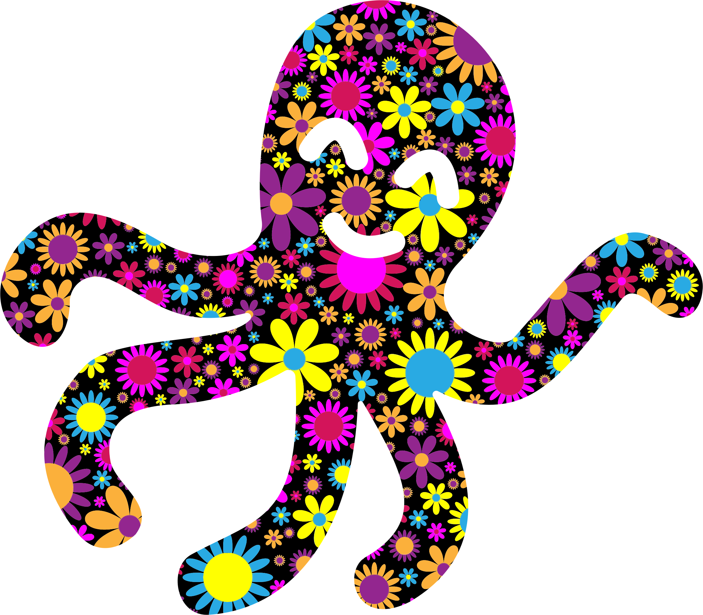 Floral Kid Octopi Redrawn by GDJ