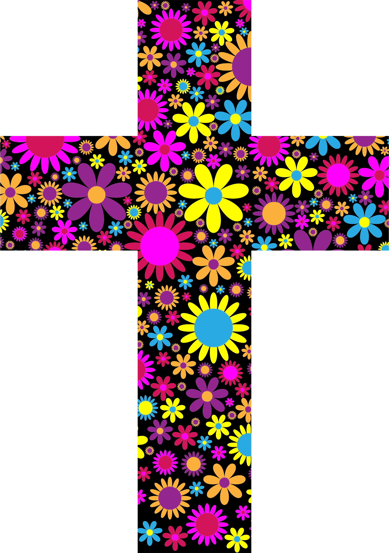 Floral Cross 2 by GDJ