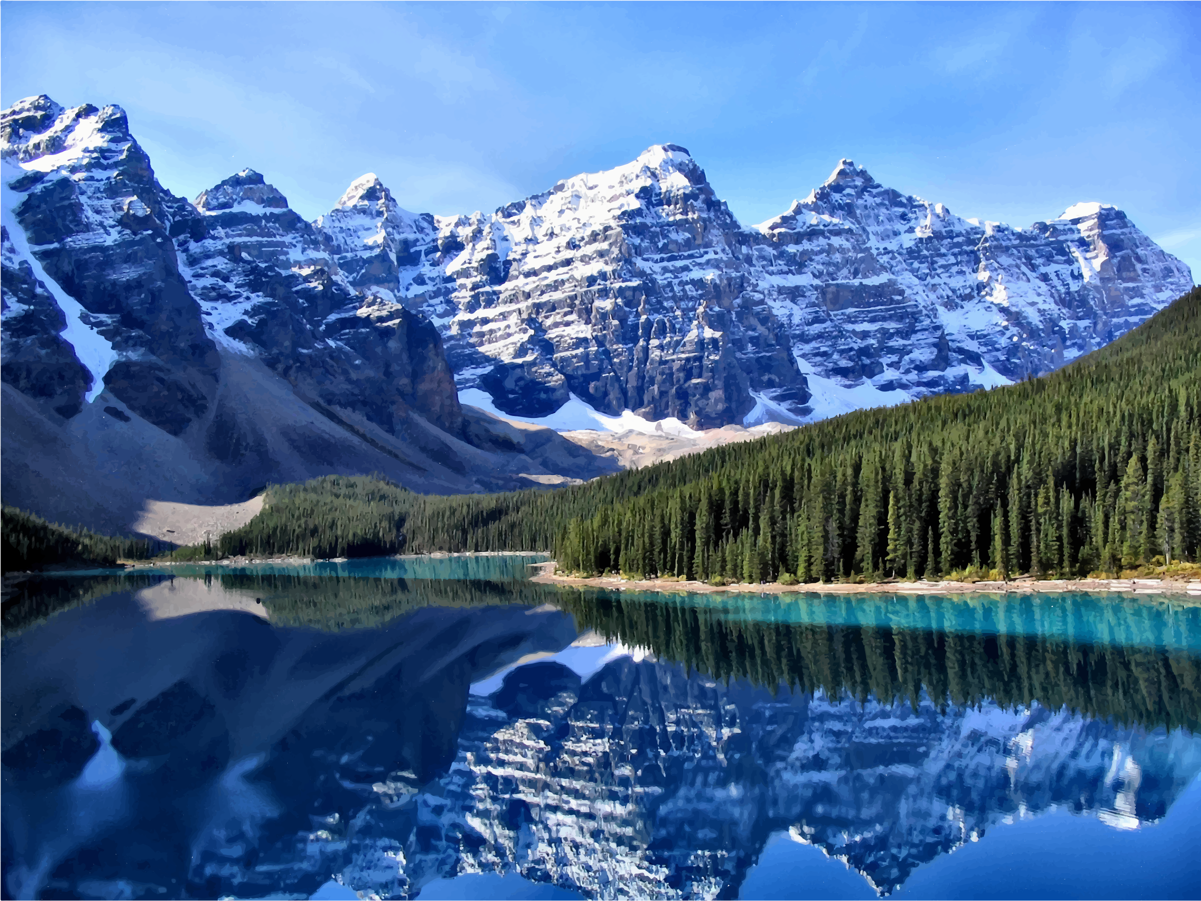 Canadian Rockies Moraine Lake by GDJ