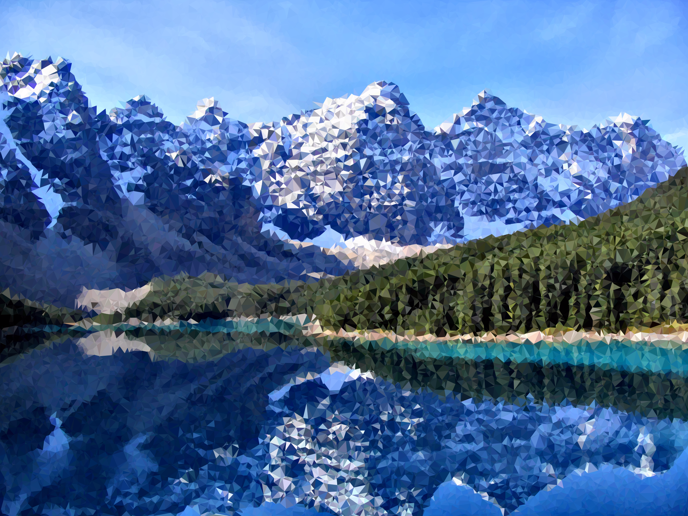 Medium Poly Canadian Rockies Moraine Lake by GDJ