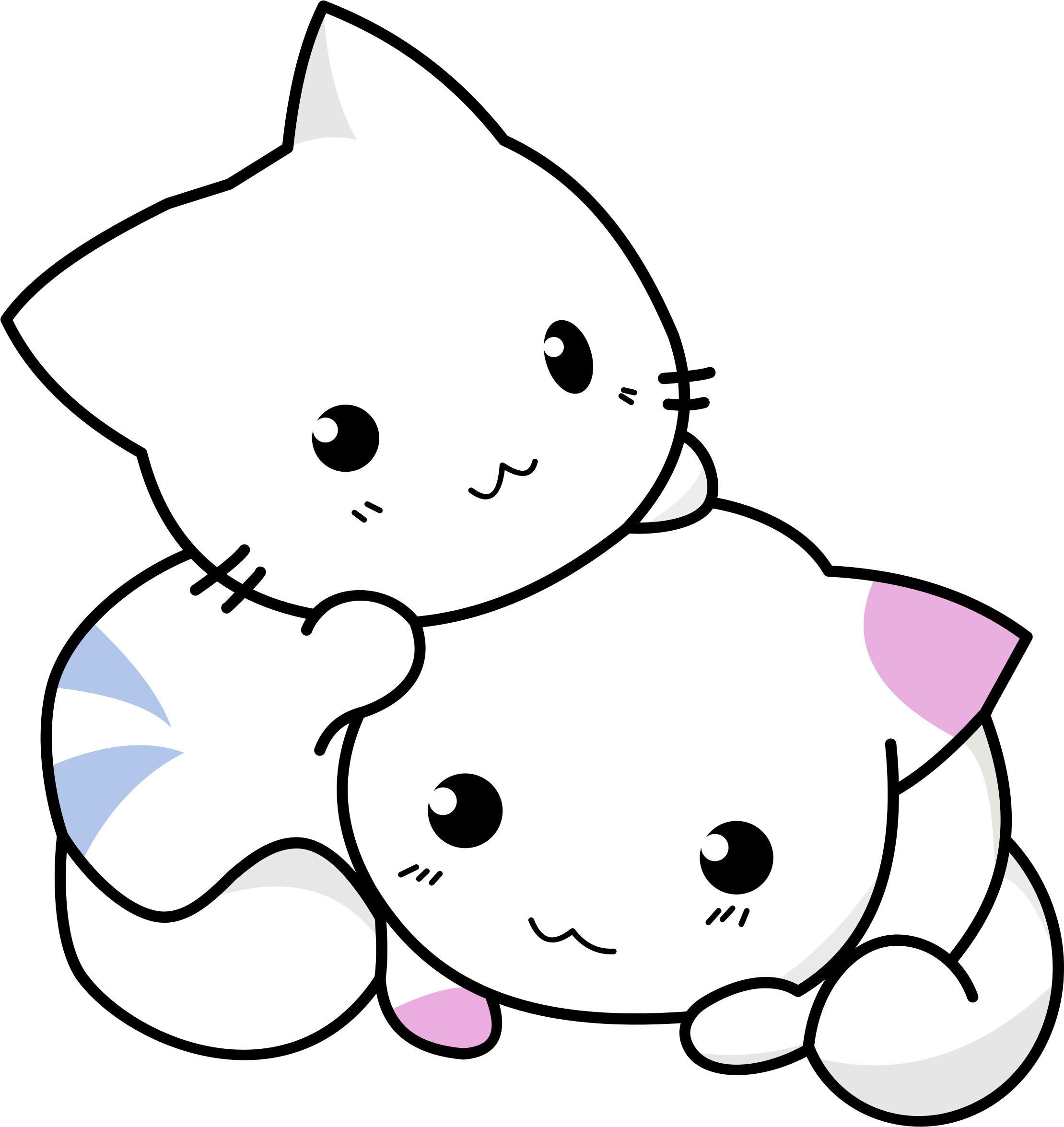 Download Clipart - Cute Kittens Playing