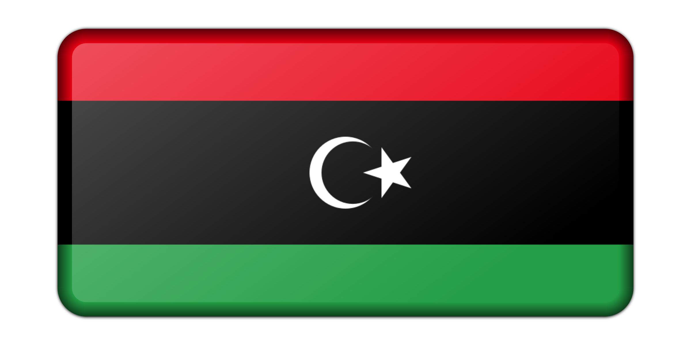 Libya flag (bevelled) by Firkin