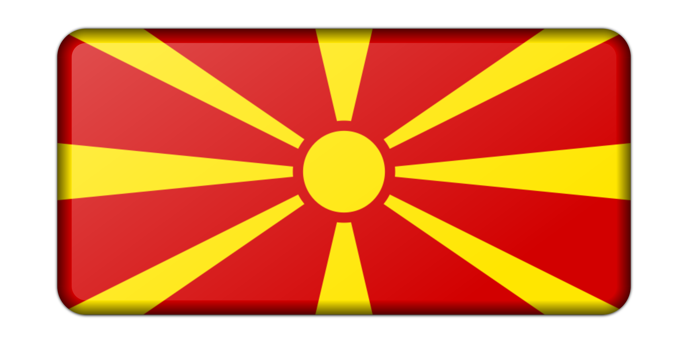 Macedonia flag (bevelled) by Firkin