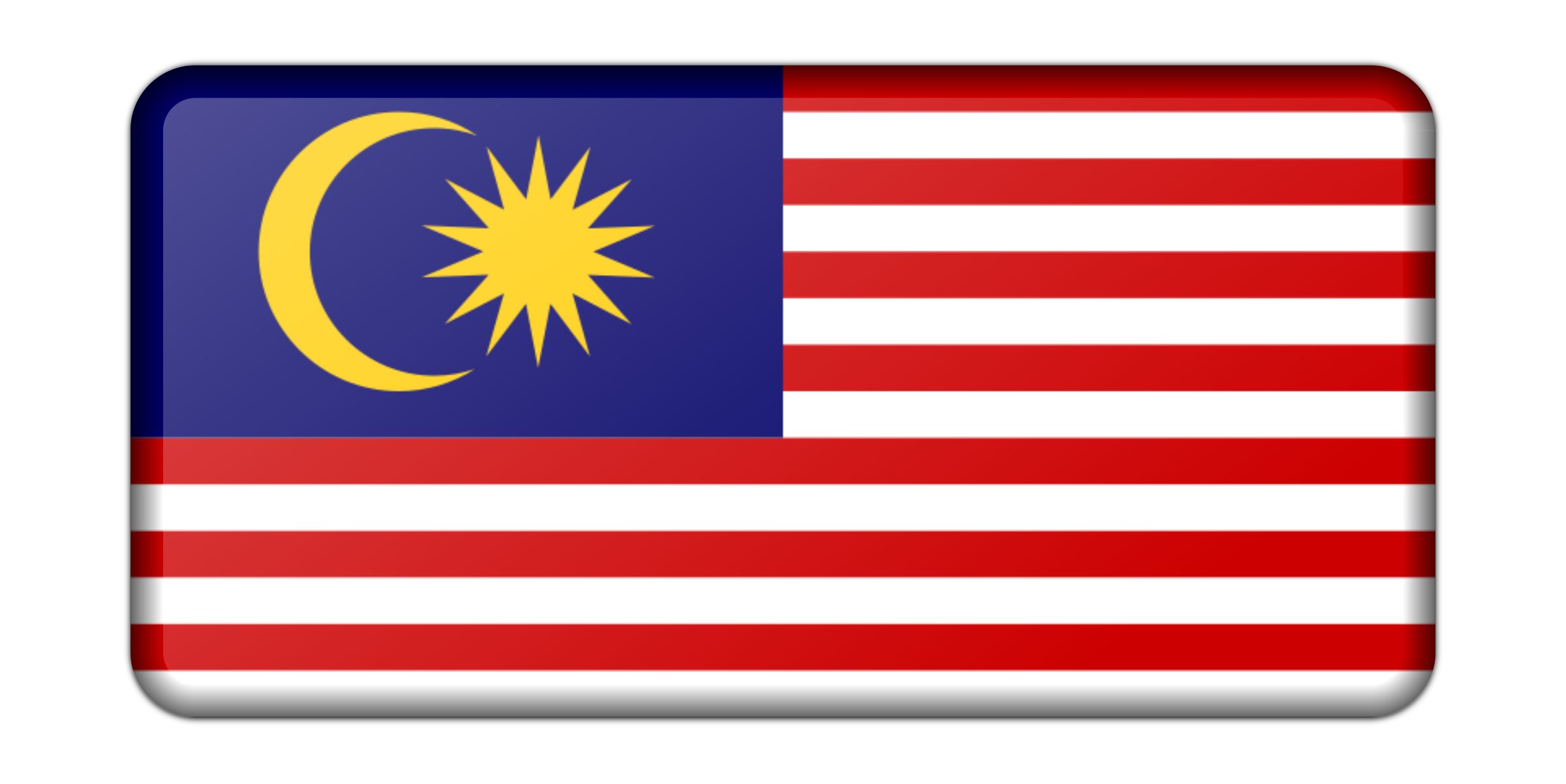 Malaysia flag (bevelled) by Firkin