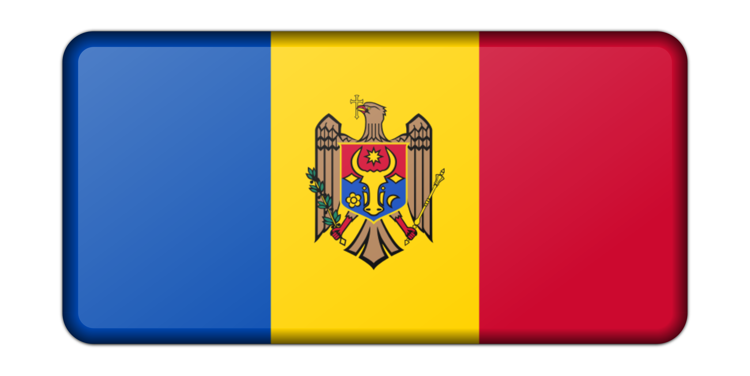 Moldova flag (bevelled) by Firkin