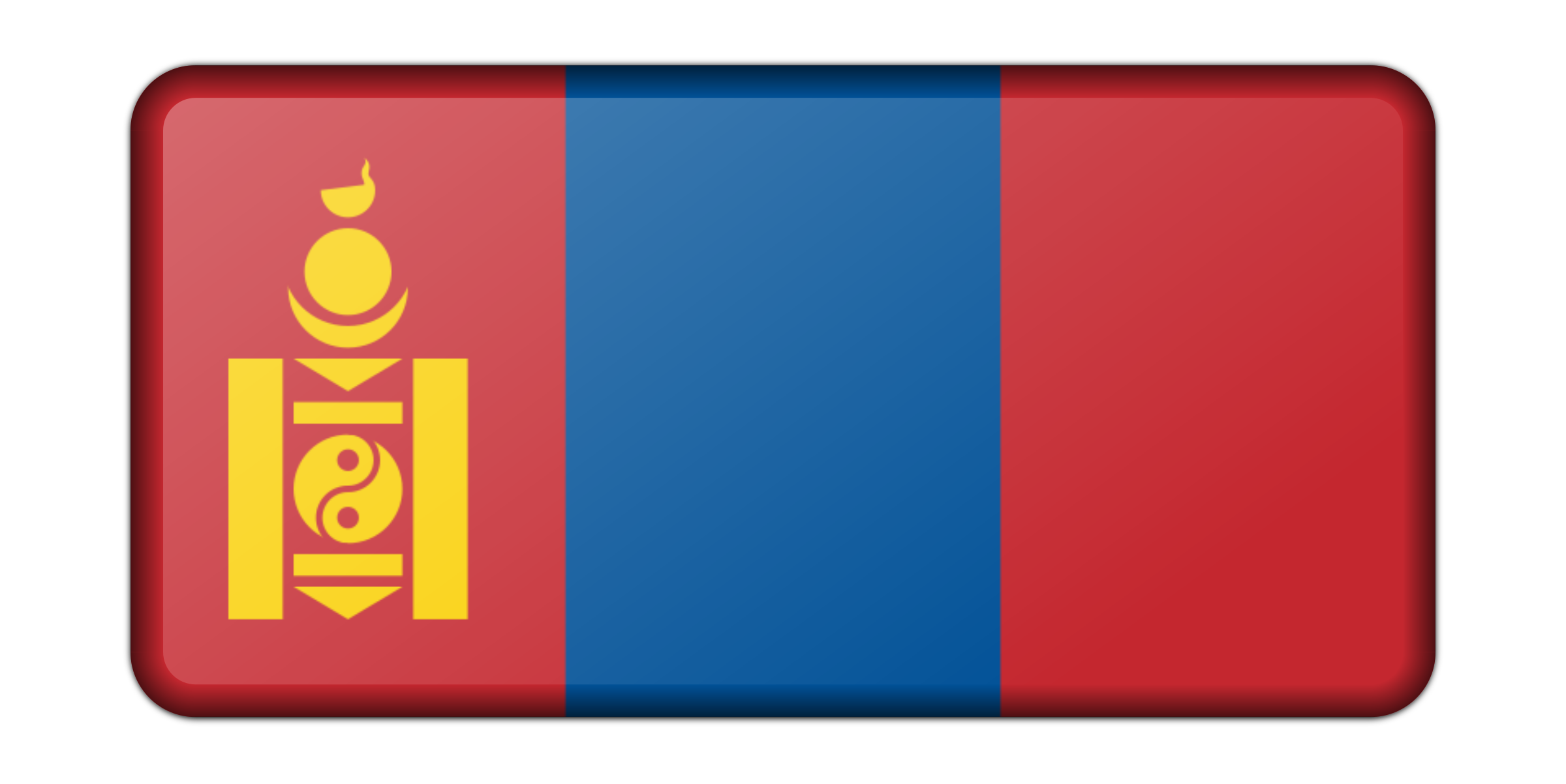 Mongolia flag (bevelled) by Firkin
