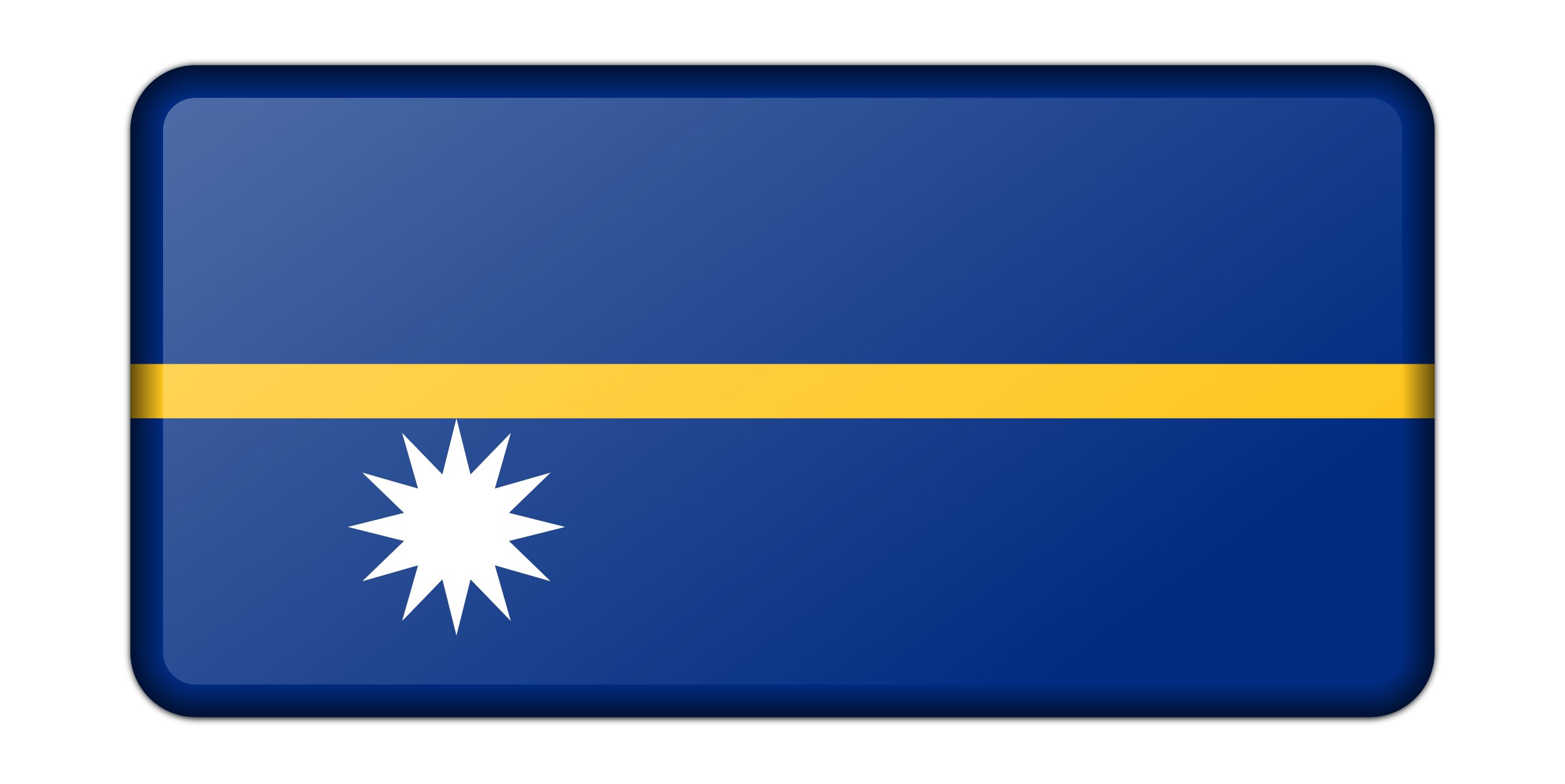 Nauru flag (bevelled) by Firkin