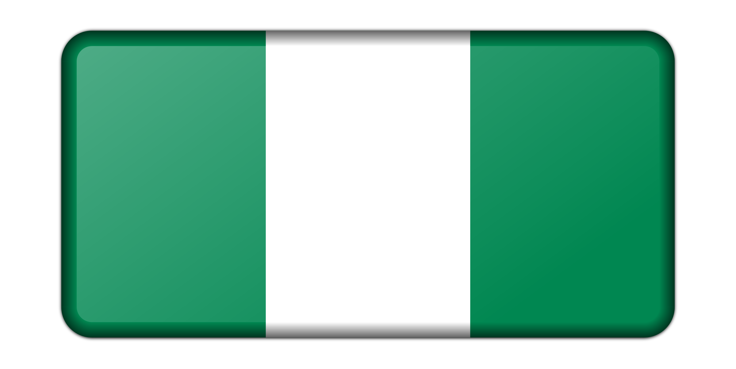 Nigeria flag (bevelled) by Firkin