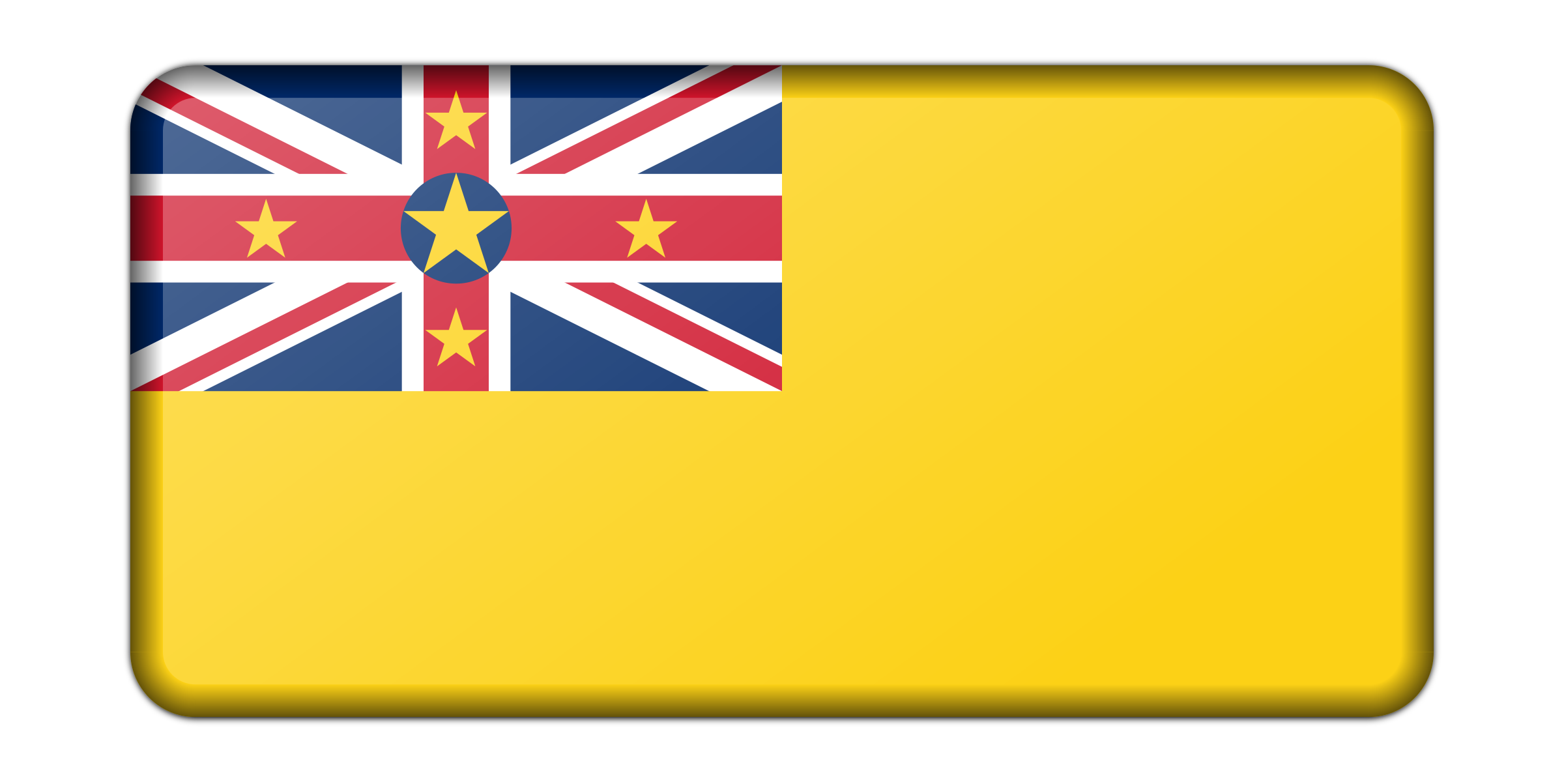 Niue flag (bevelled) by Firkin
