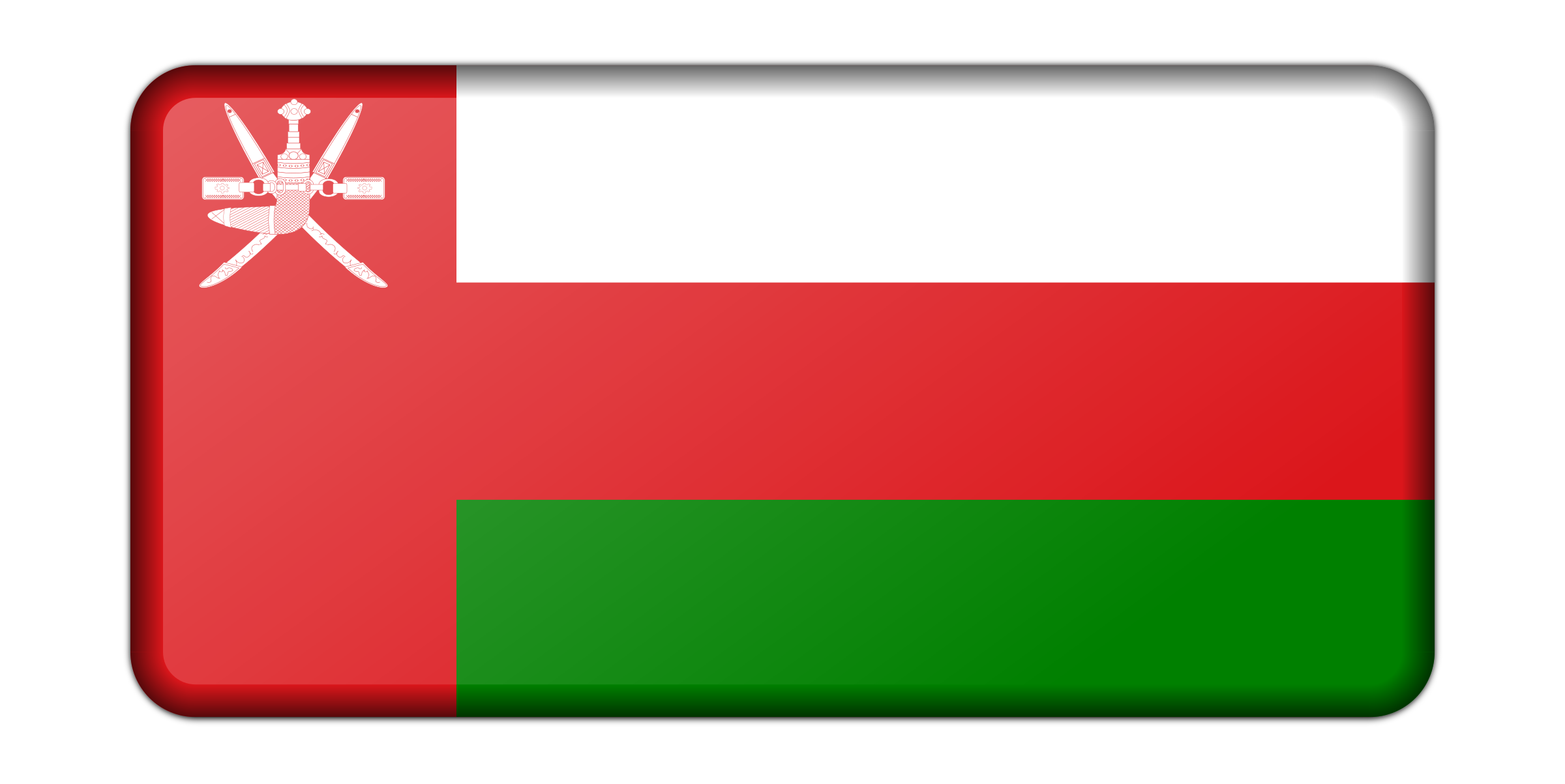 Oman flag (bevelled) by Firkin
