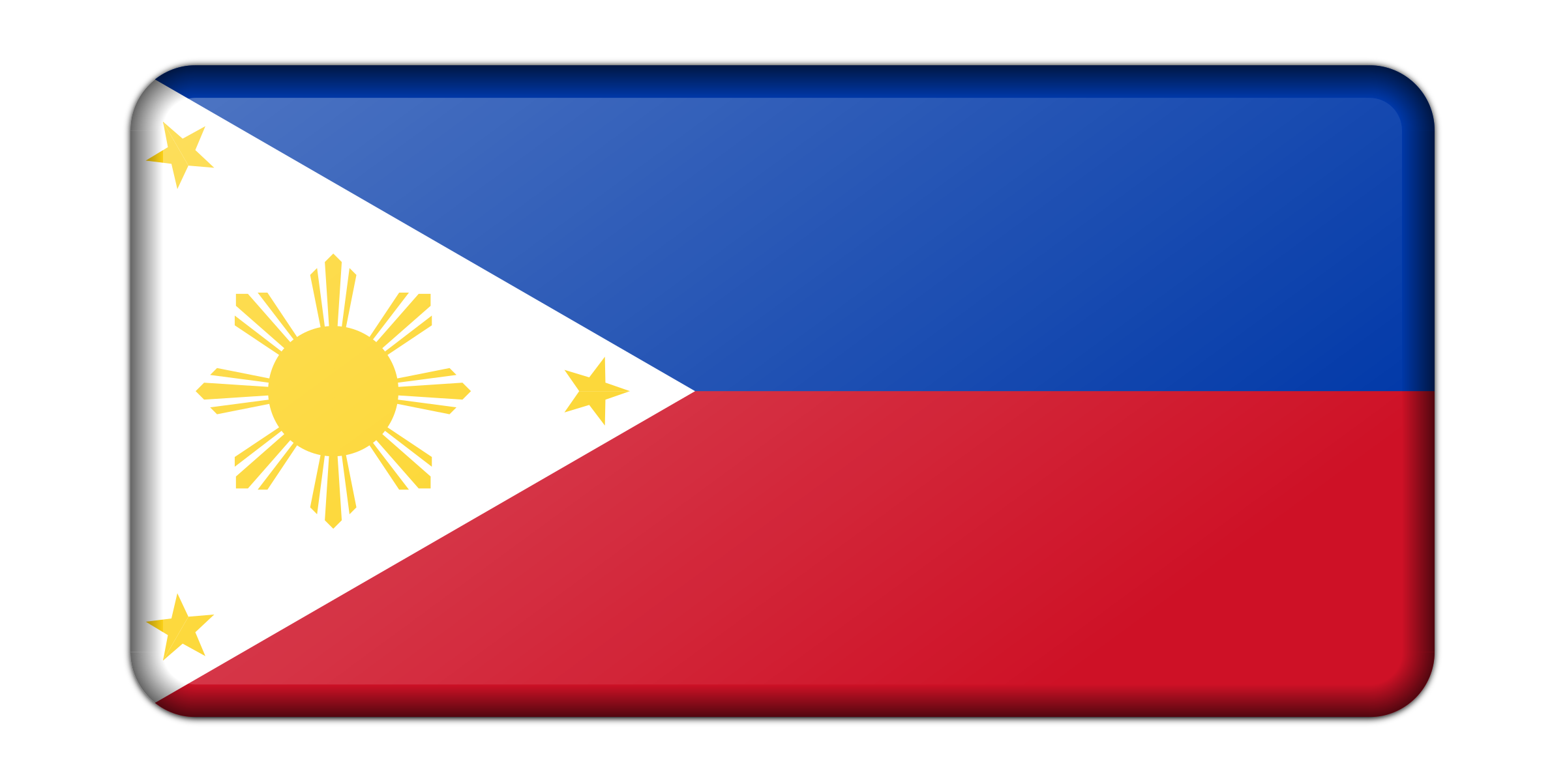Philippines flag (bevelled) by Firkin