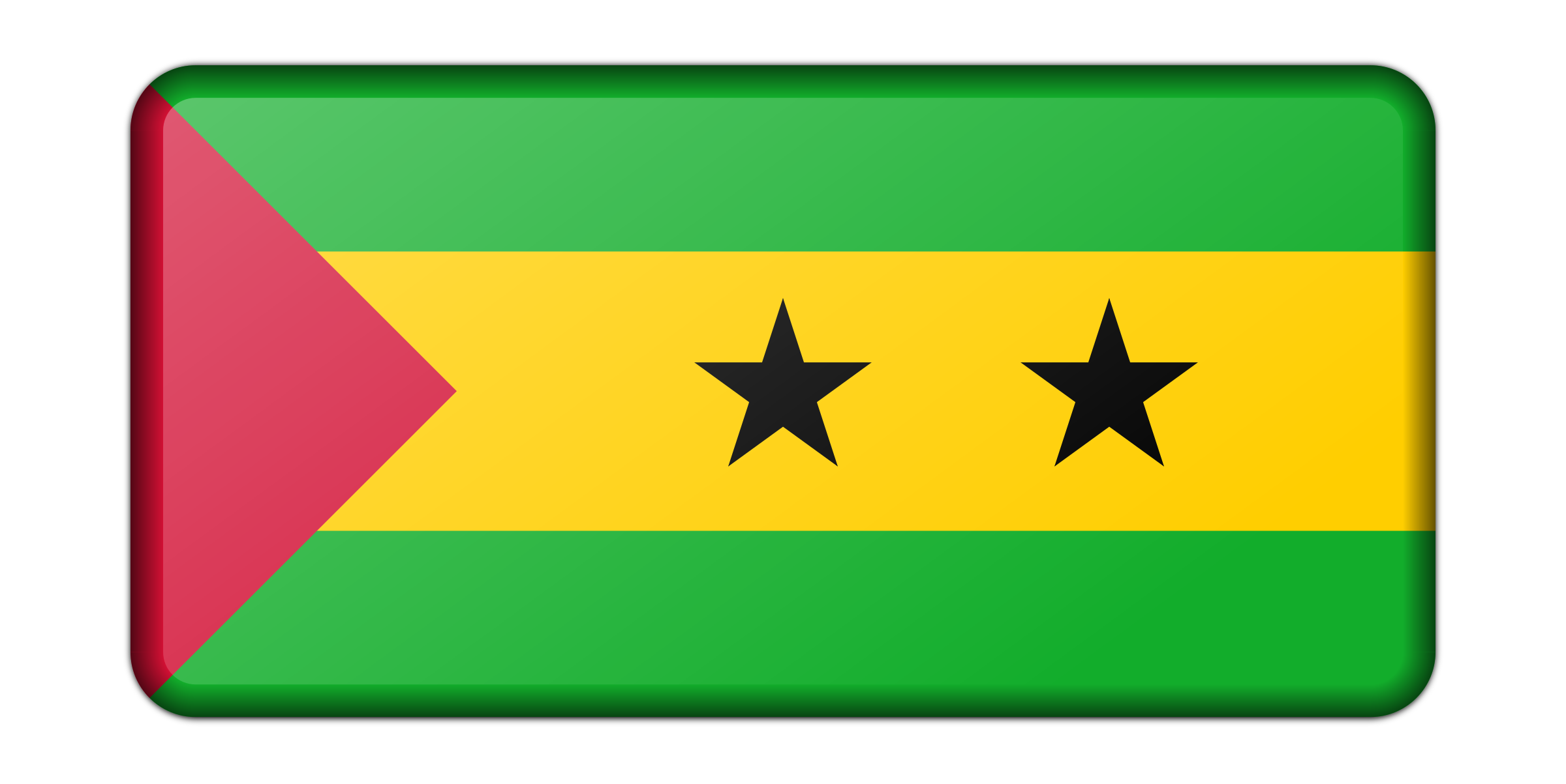 Sao Tome and Principe flag (bevelled) by Firkin