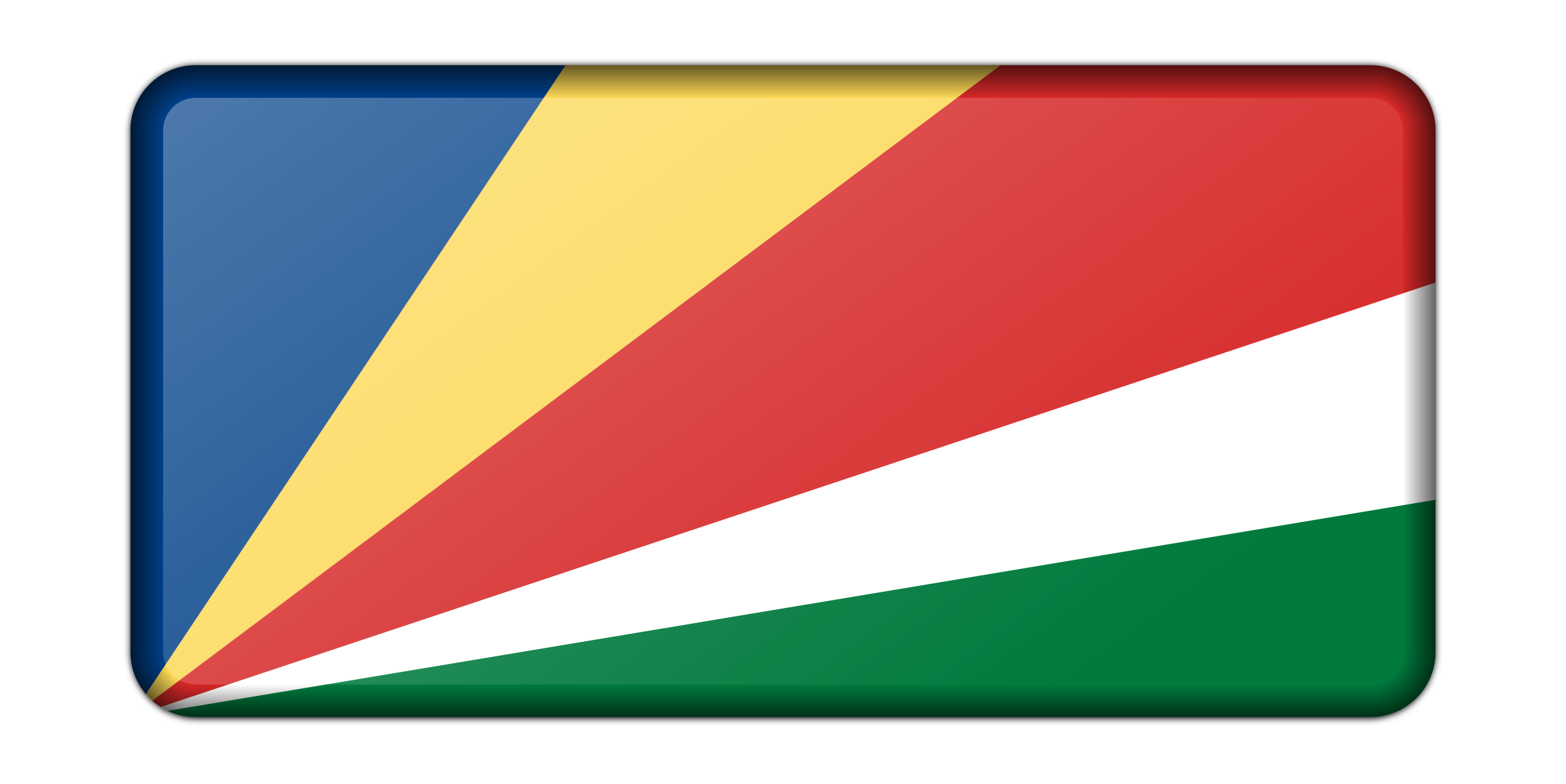Seychelles flag (bevelled) by Firkin