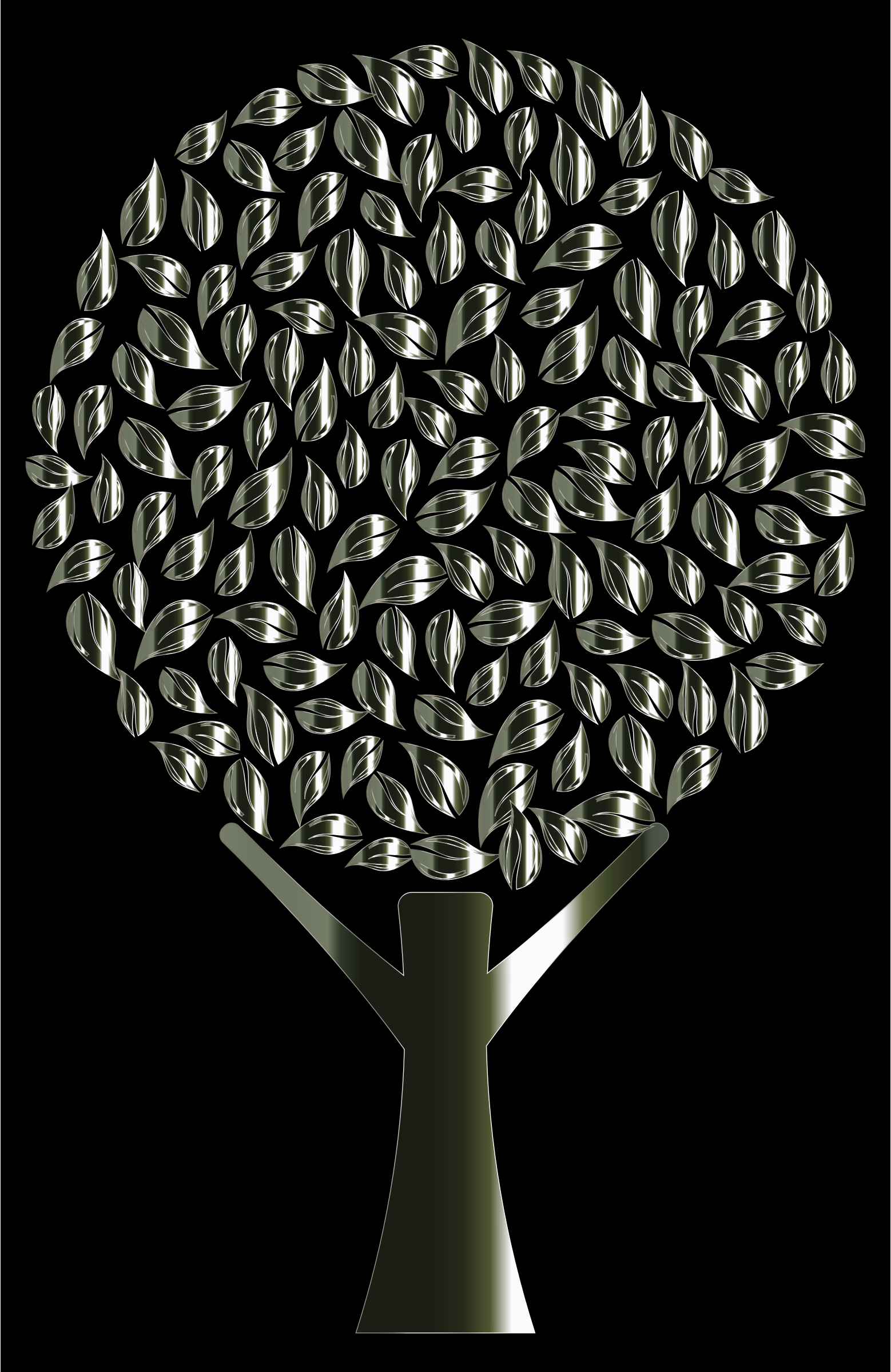 Polished Obsidian Abstract Tree by GDJ