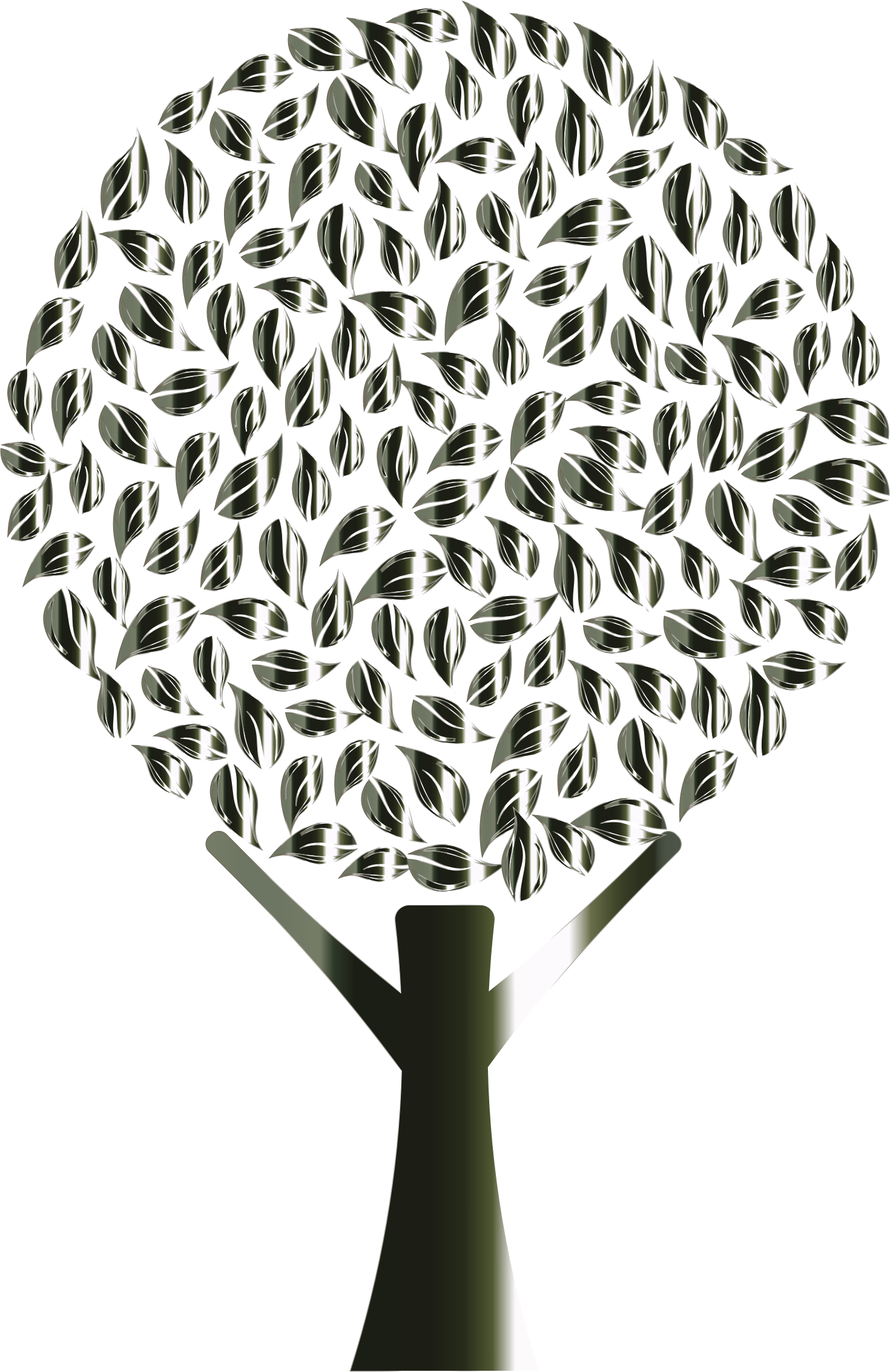 Polished Obsidian Abstract Tree No Background by GDJ
