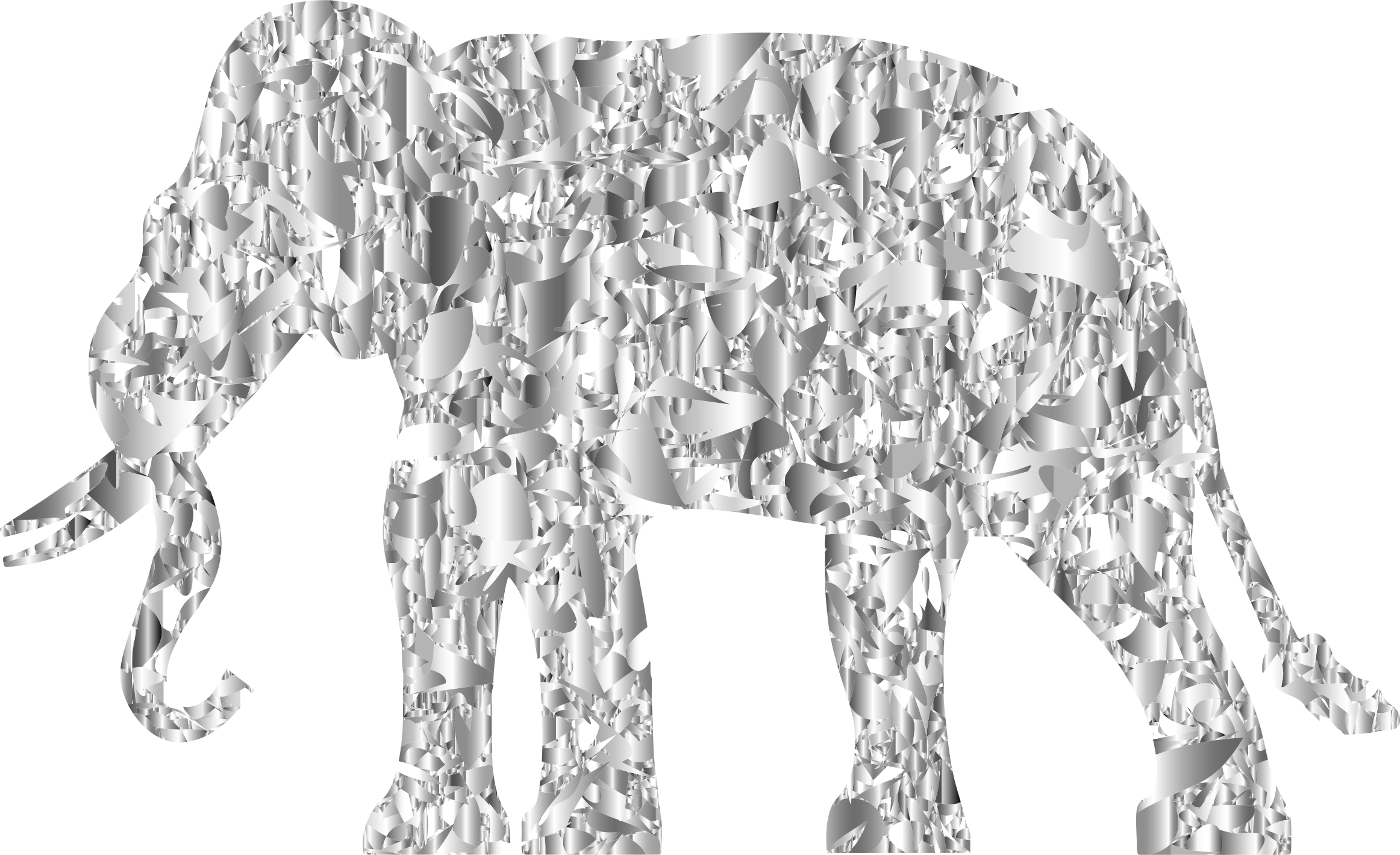 Modern Art Elephant Reactivated 2 by GDJ