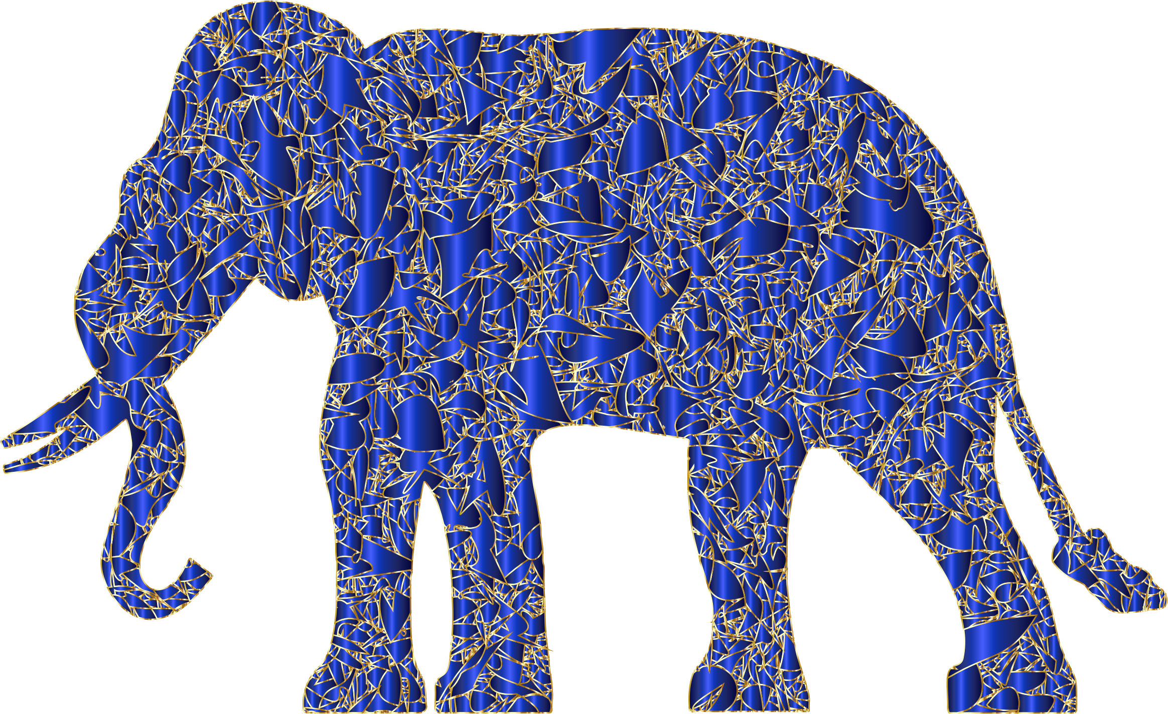Modern Art Elephant Reactivated 5 by GDJ