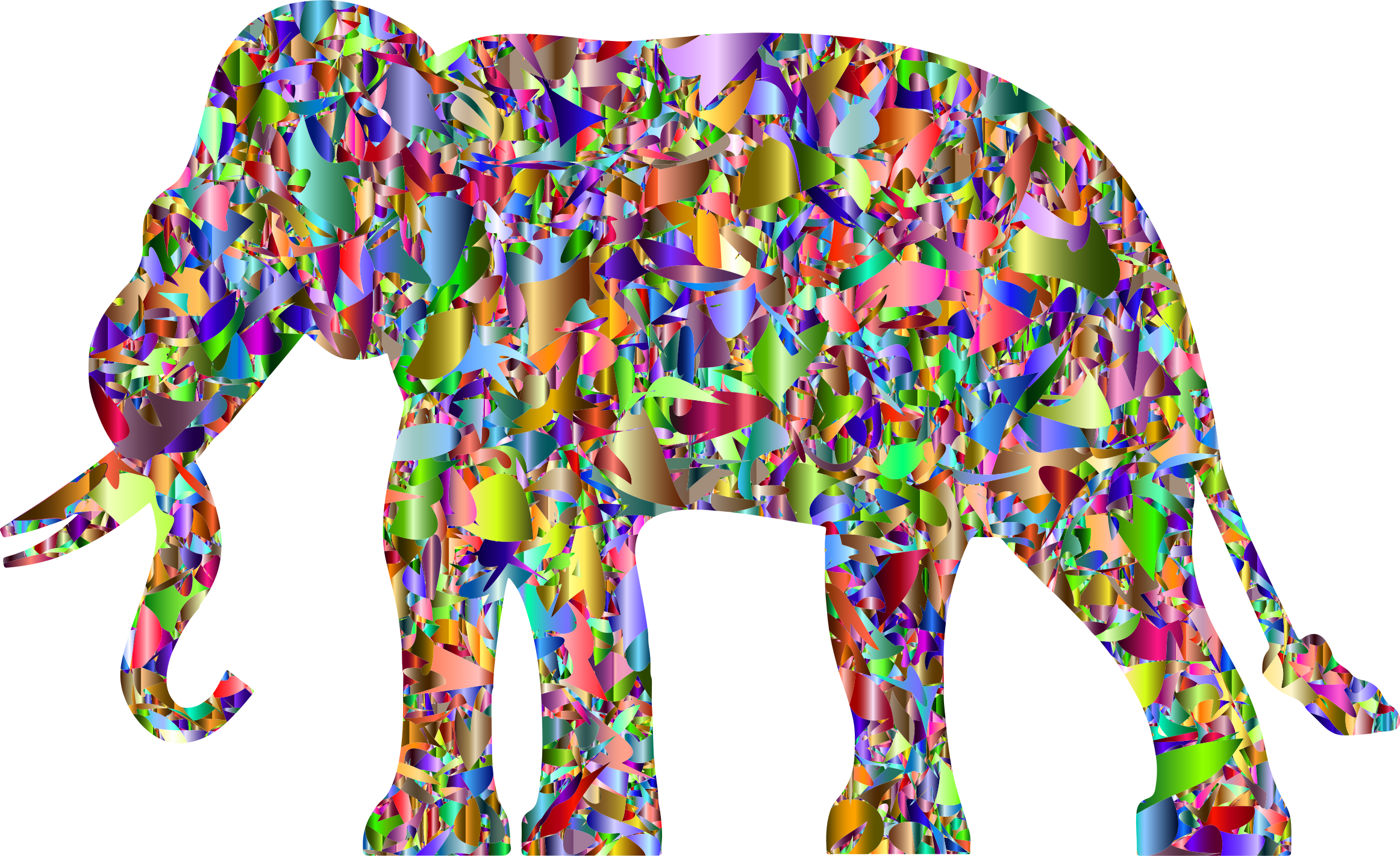 Modern Art Elephant Reactivated 6 by GDJ