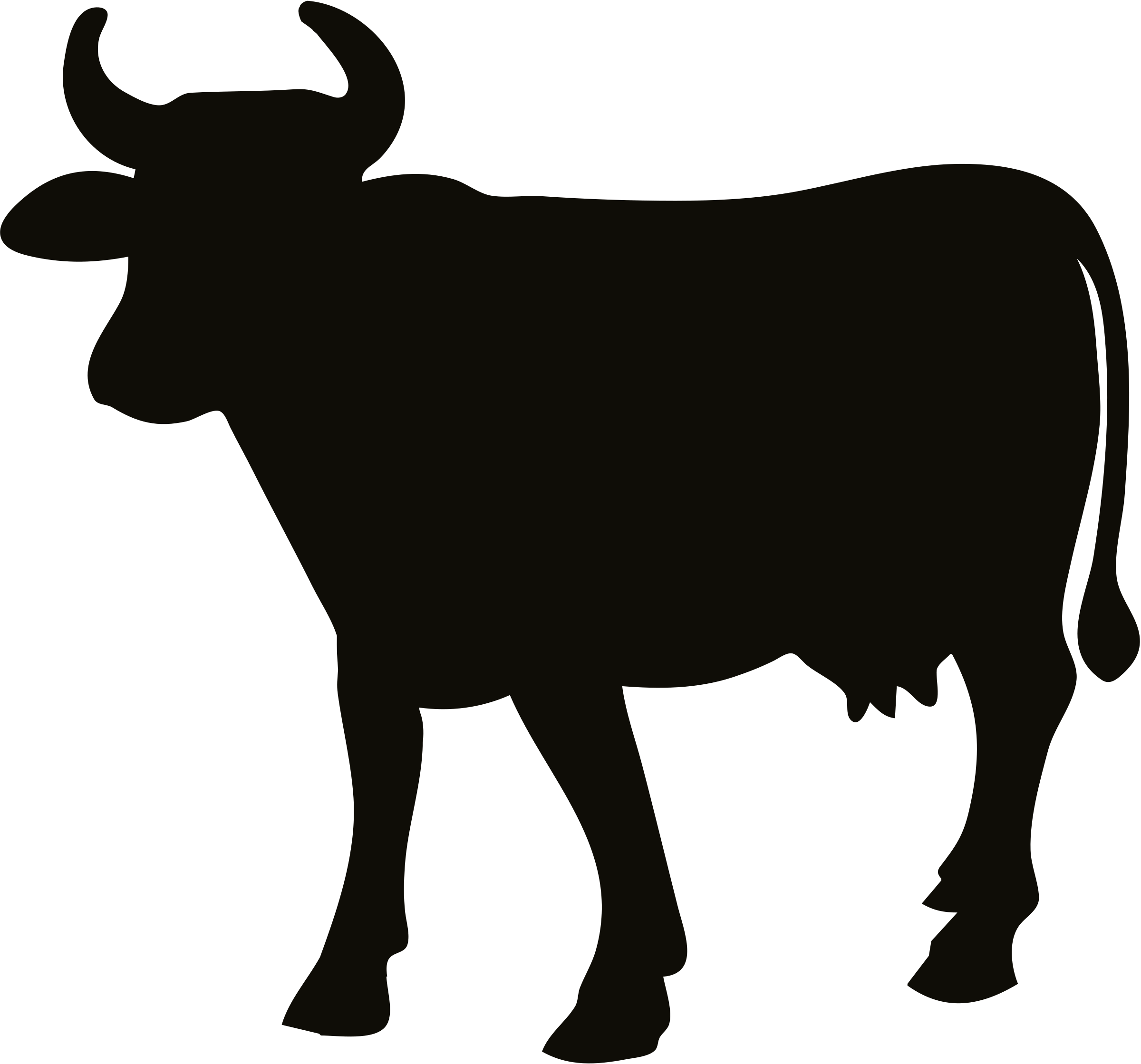 Cow silhouette by Firkin