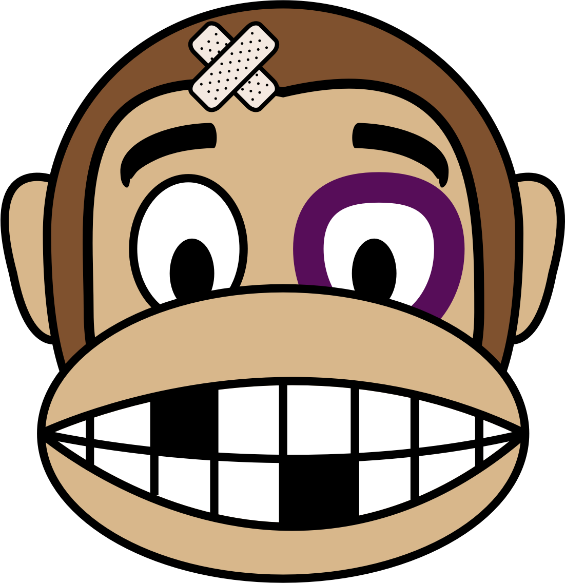 Clipart - Monkey Emoji - Fighter