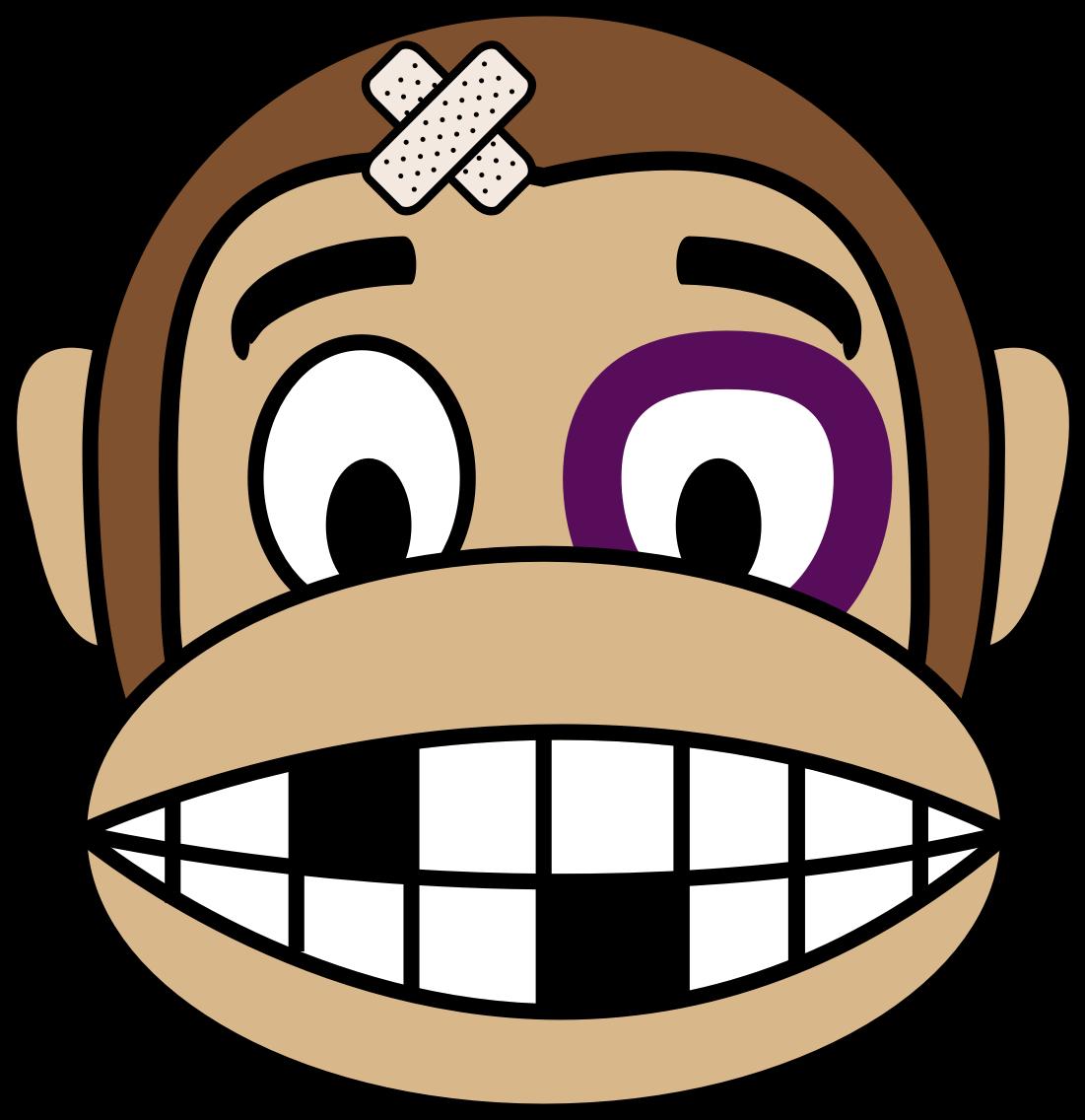 Clipart - Monkey Emoji - Fighter