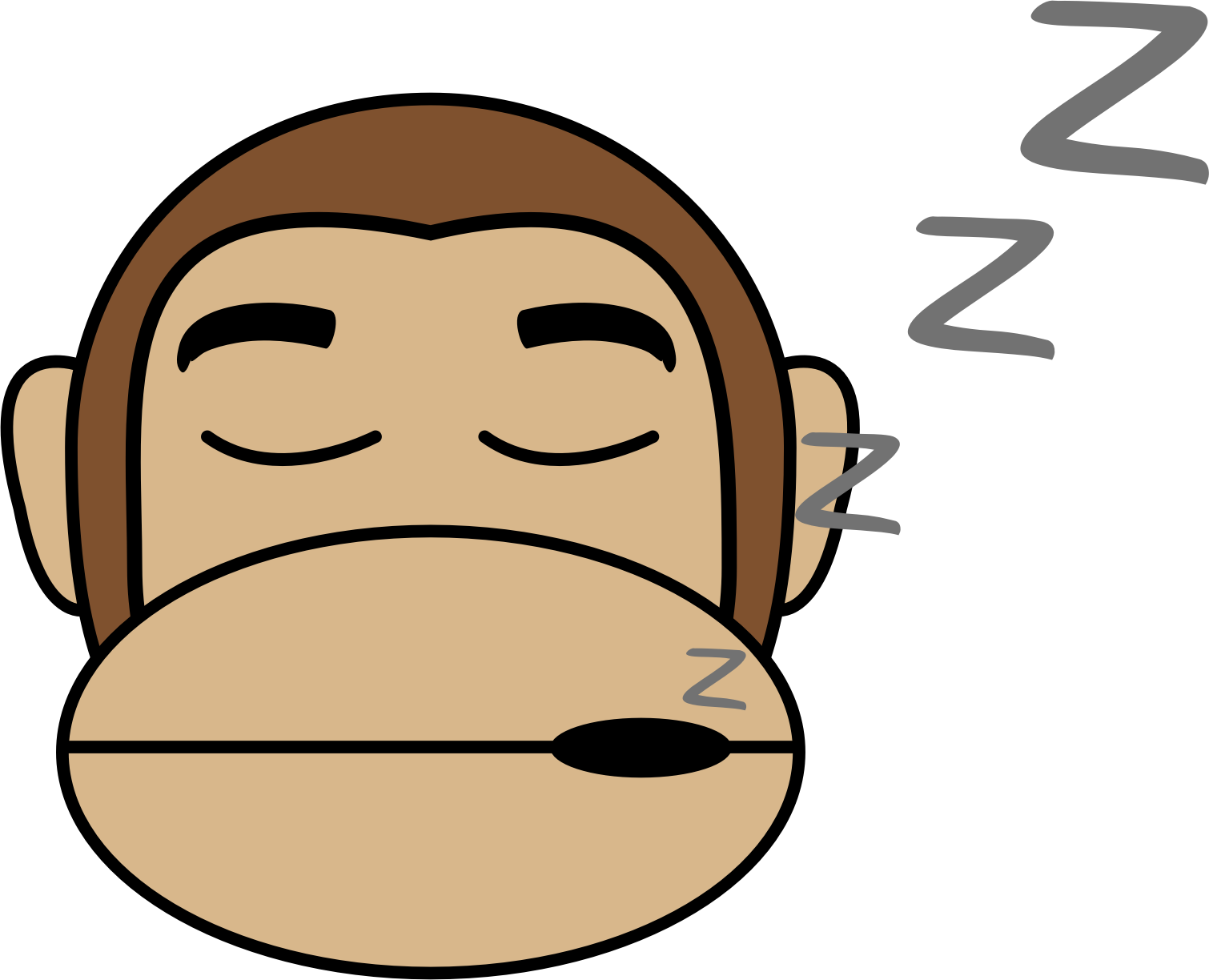 Monkey Emoji - Sleep by buzzbomb