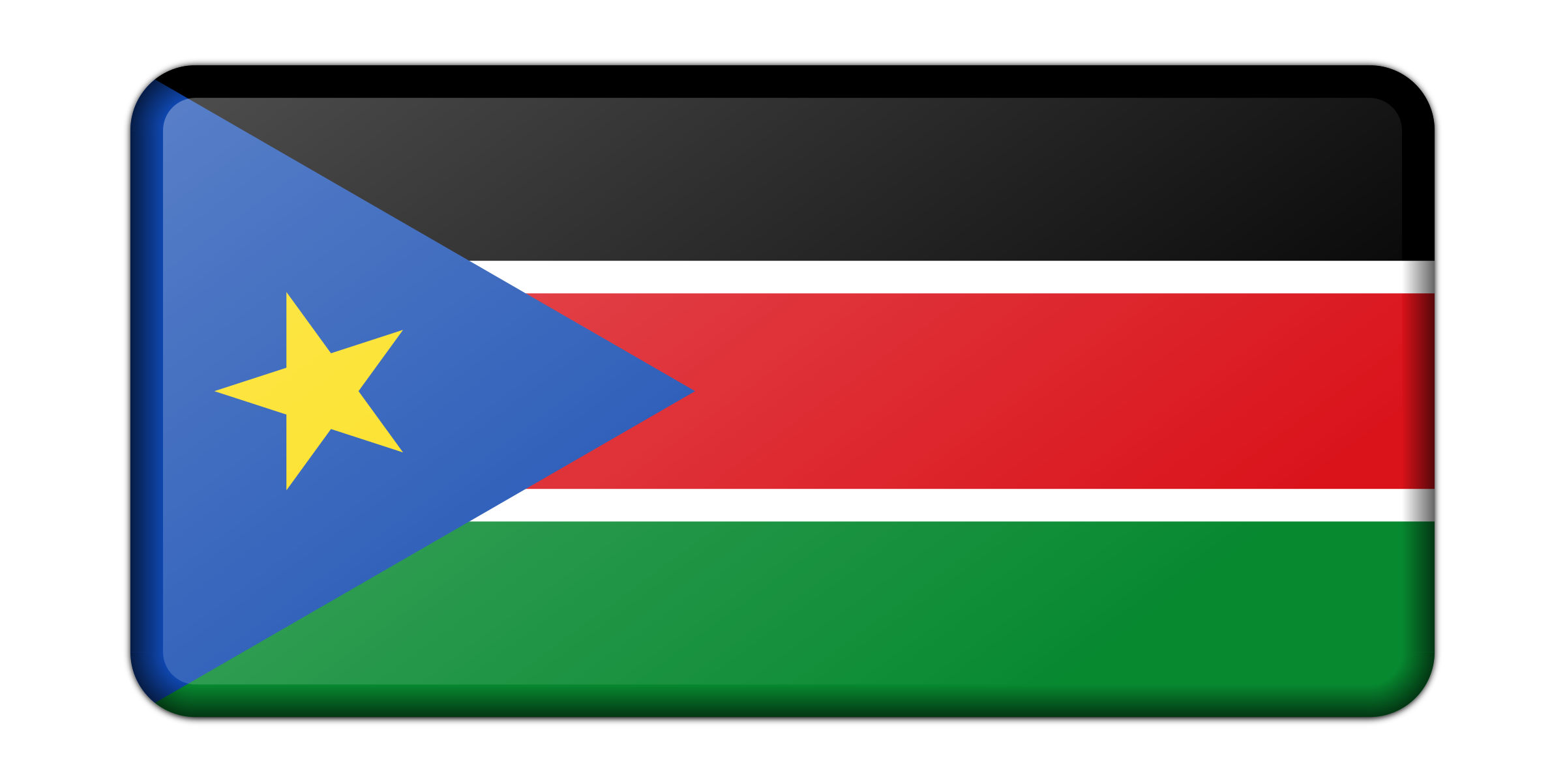 Flag of South Sudan (bevelled) by Firkin