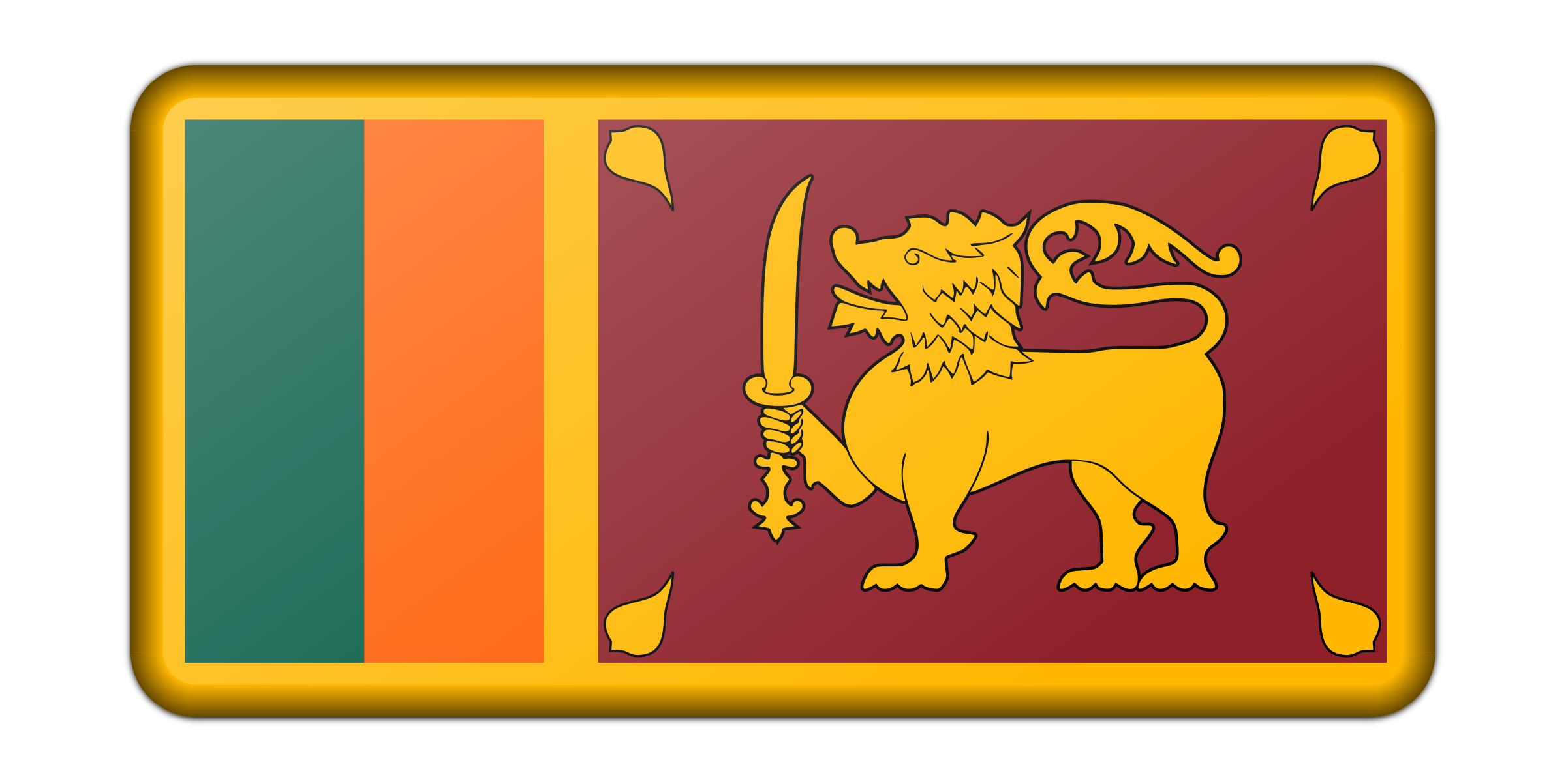 Flag of Sri Lanka (bevelled) by Firkin