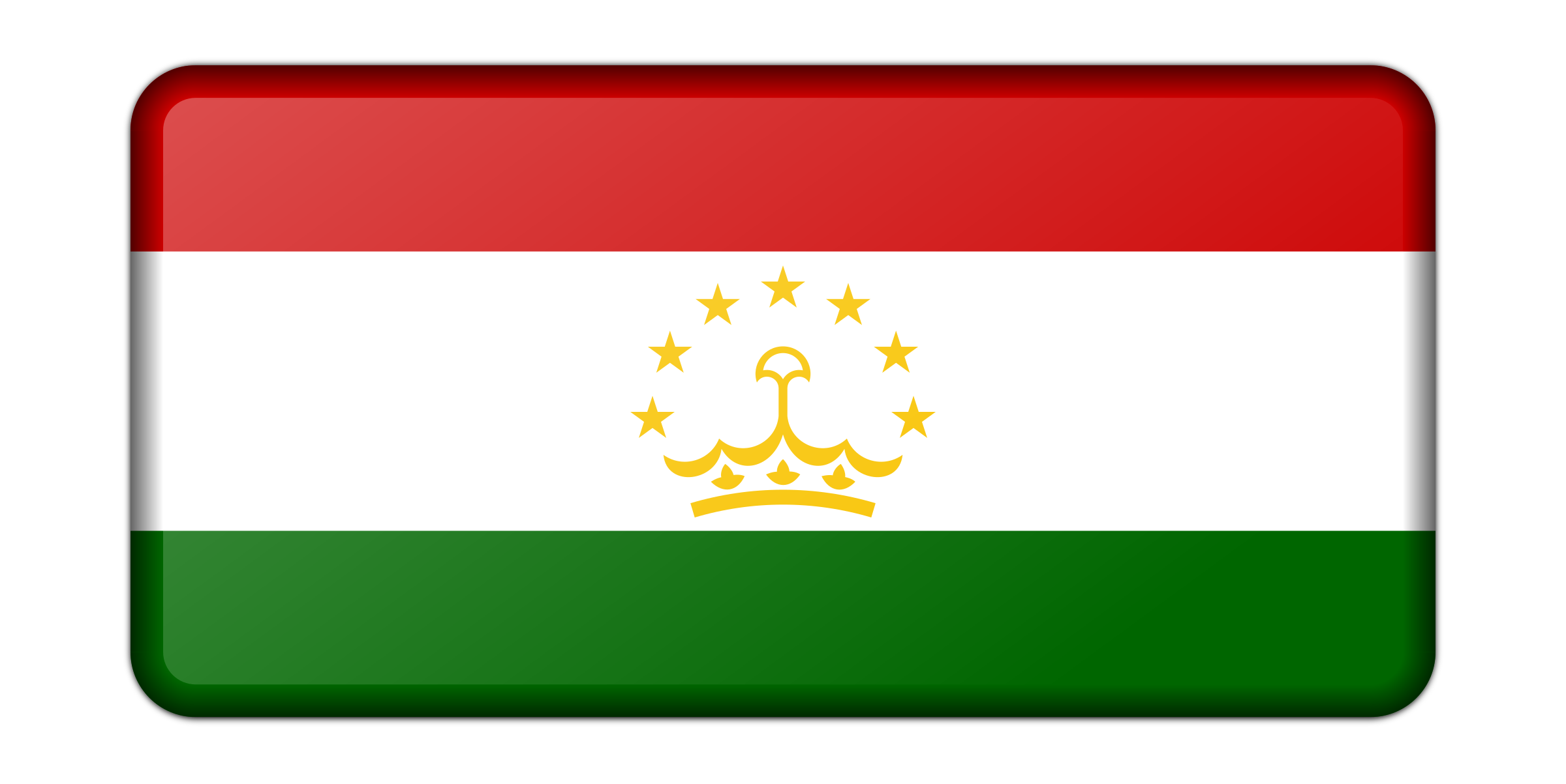 Flag of Tajikistan (bevelled) by Firkin