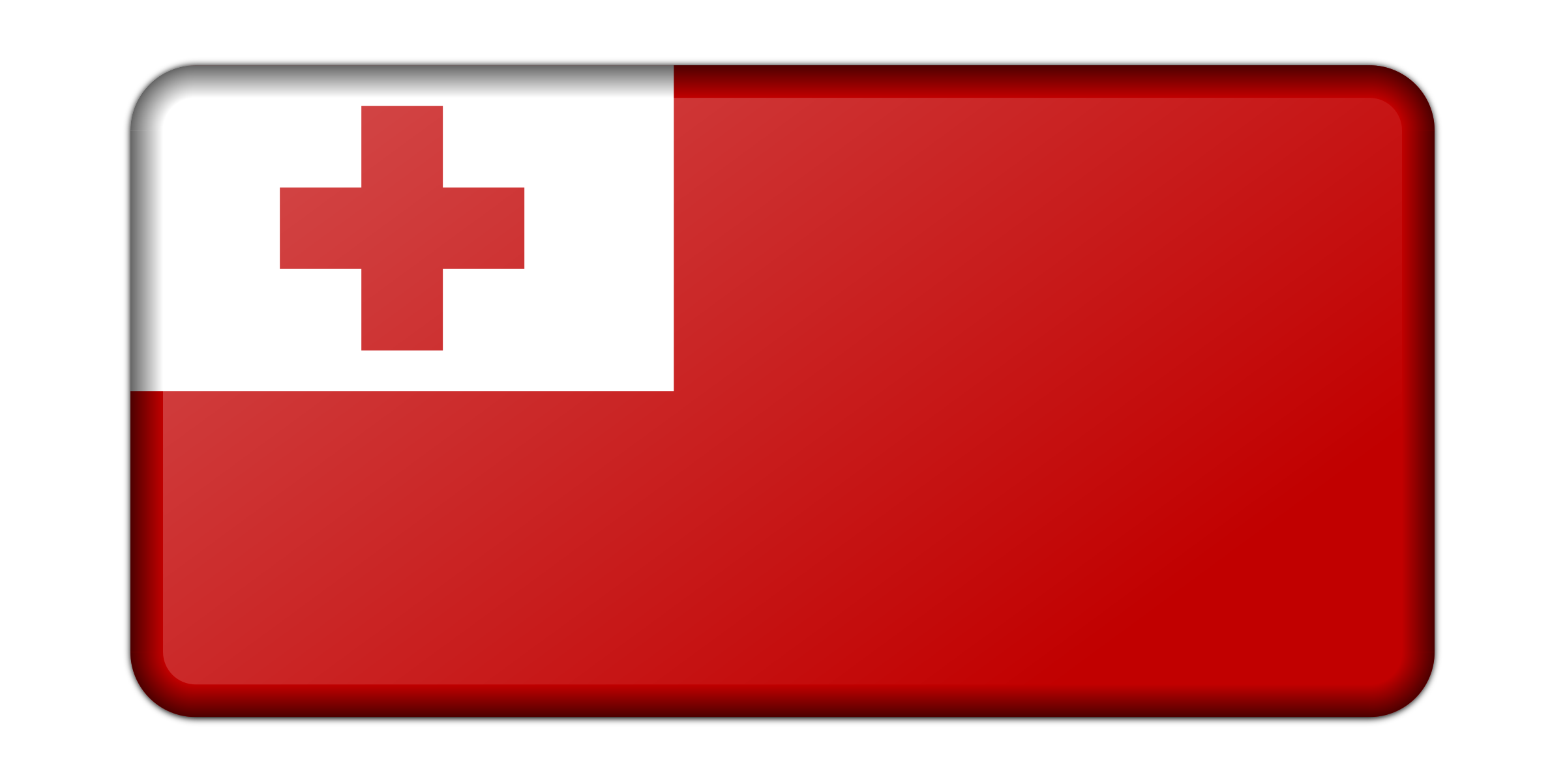 Flag of Tonga (bevelled) by Firkin