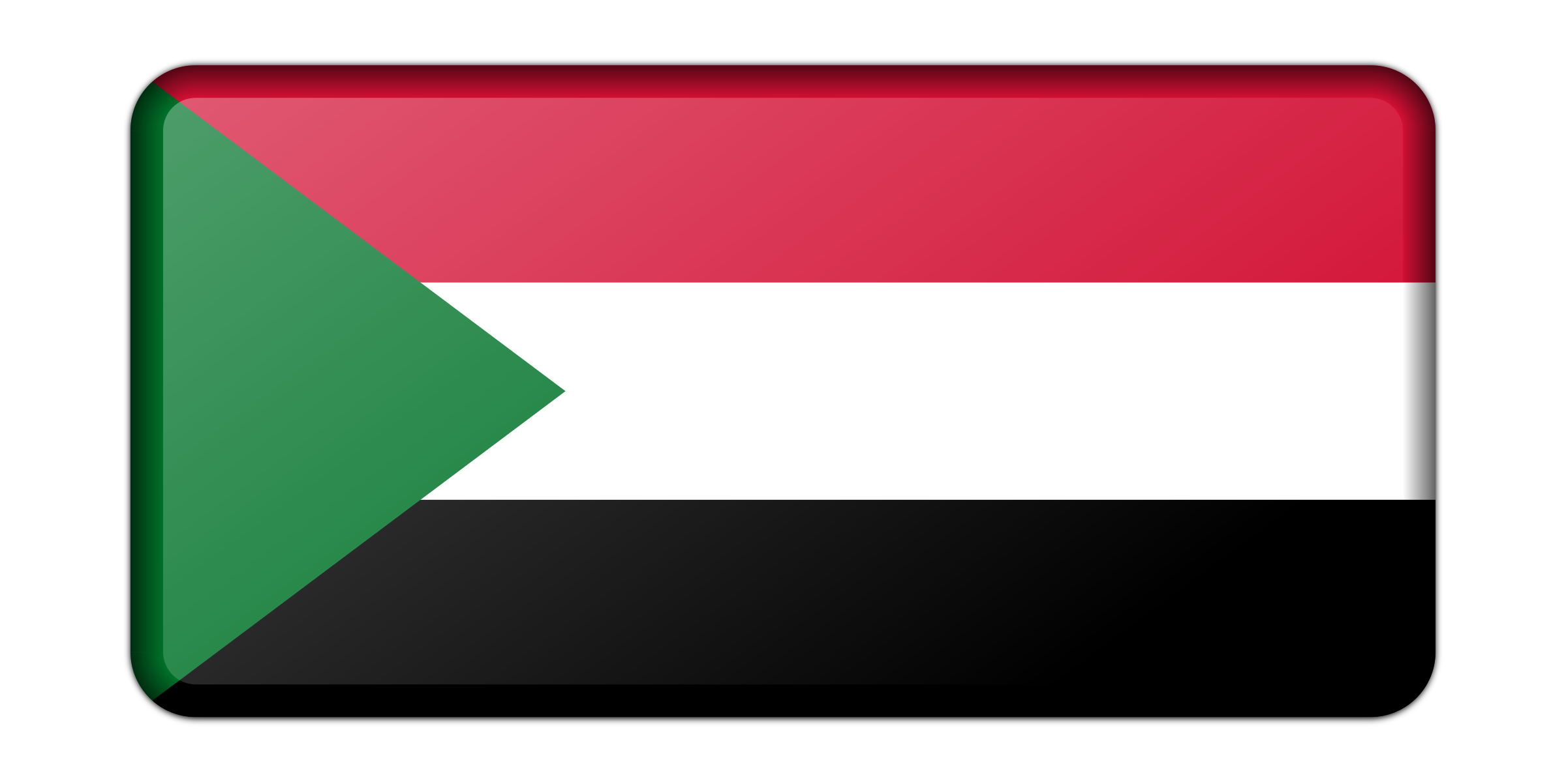 Flag of Sudan (bevelled) by Firkin