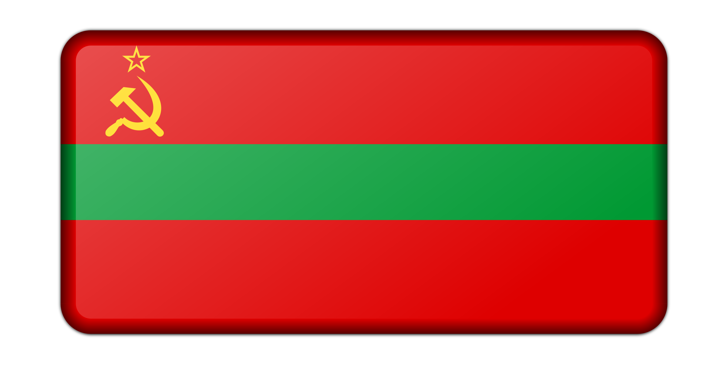 Flag of Transnistria (bevelled) by Firkin