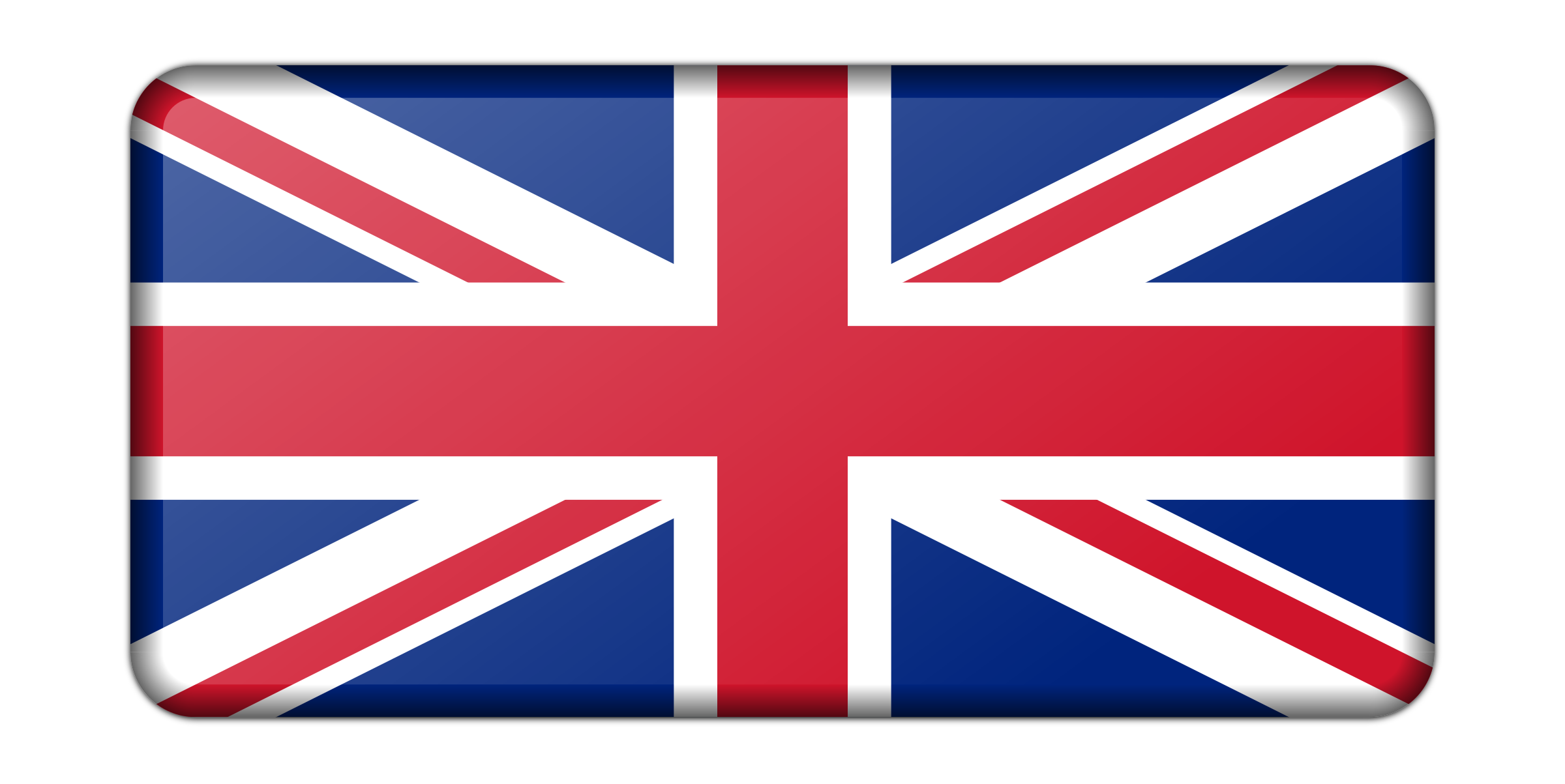 Flag of United Kingdom (bevelled) by Firkin