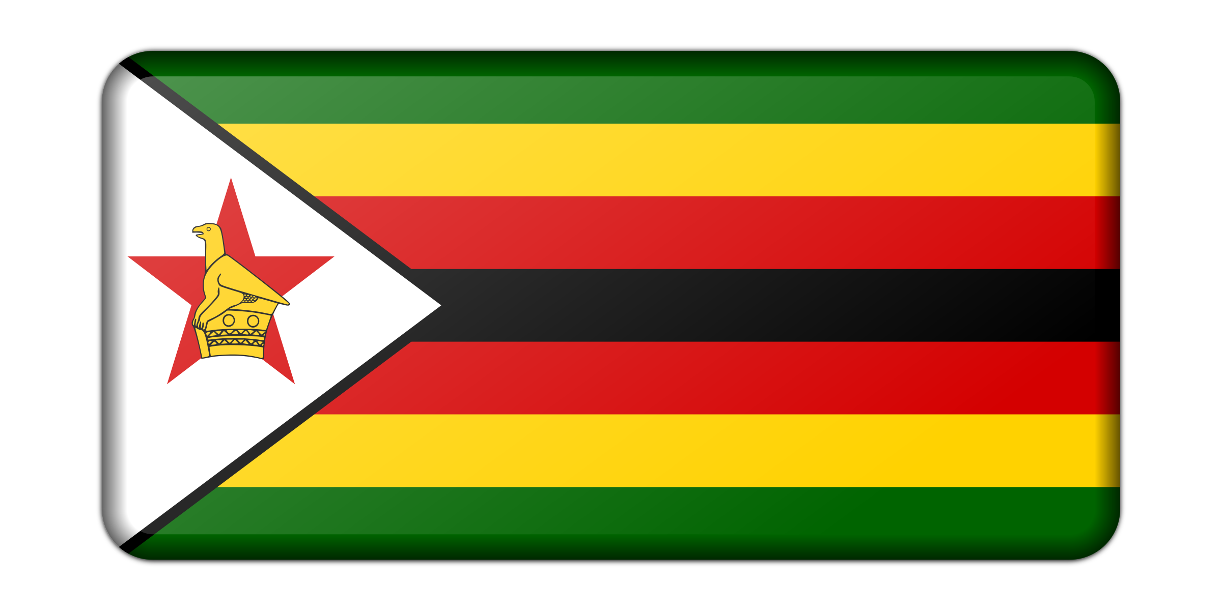 Flag of Zimbabwe (bevelled) by Firkin