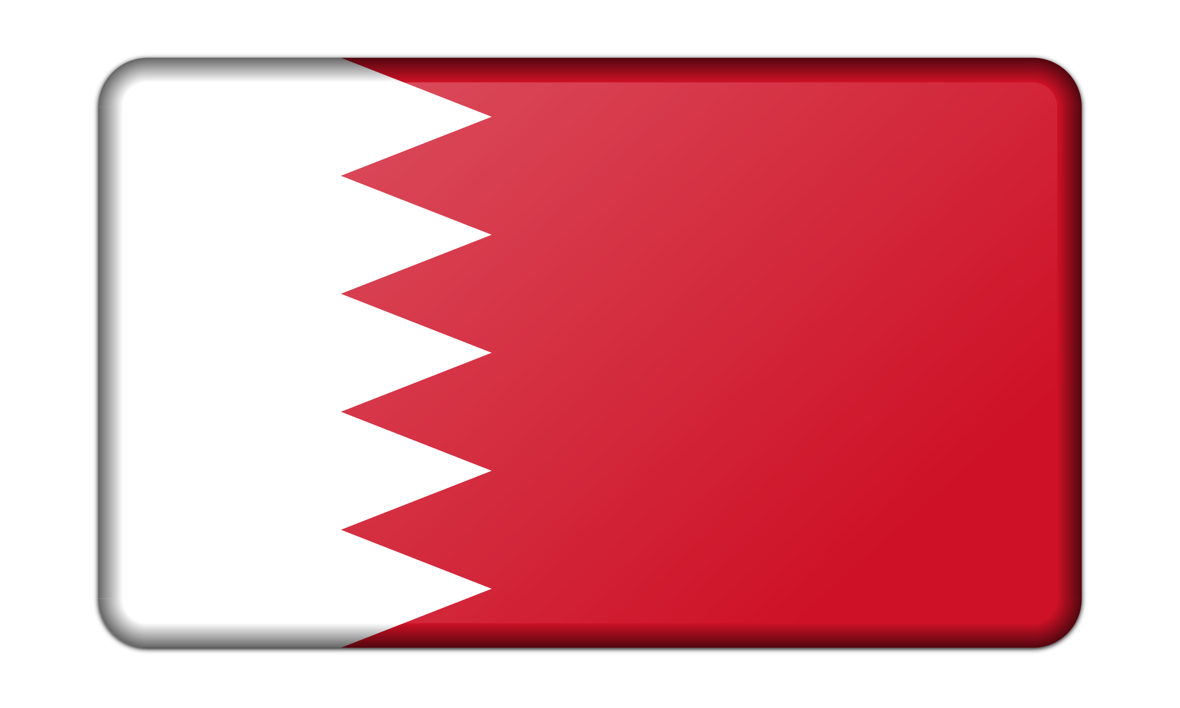 Flag of Bahrain (bevelled) by Firkin