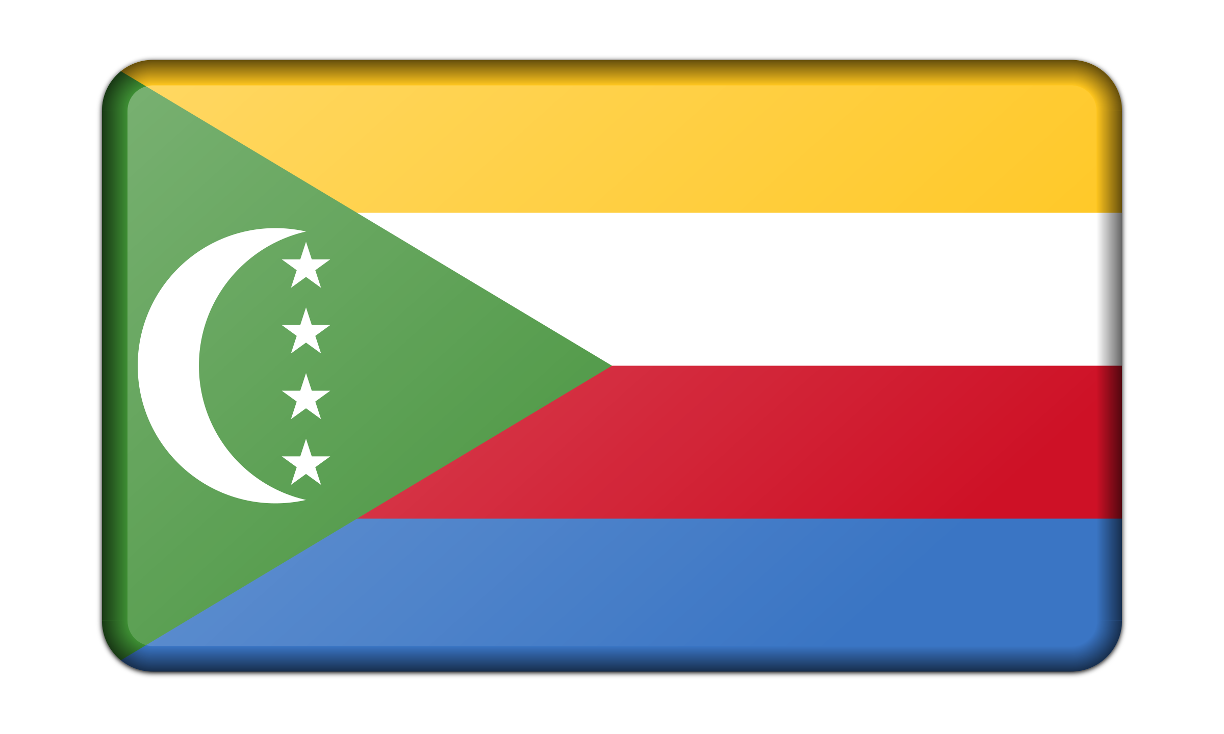 Flag of Comoros (bevelled) by Firkin