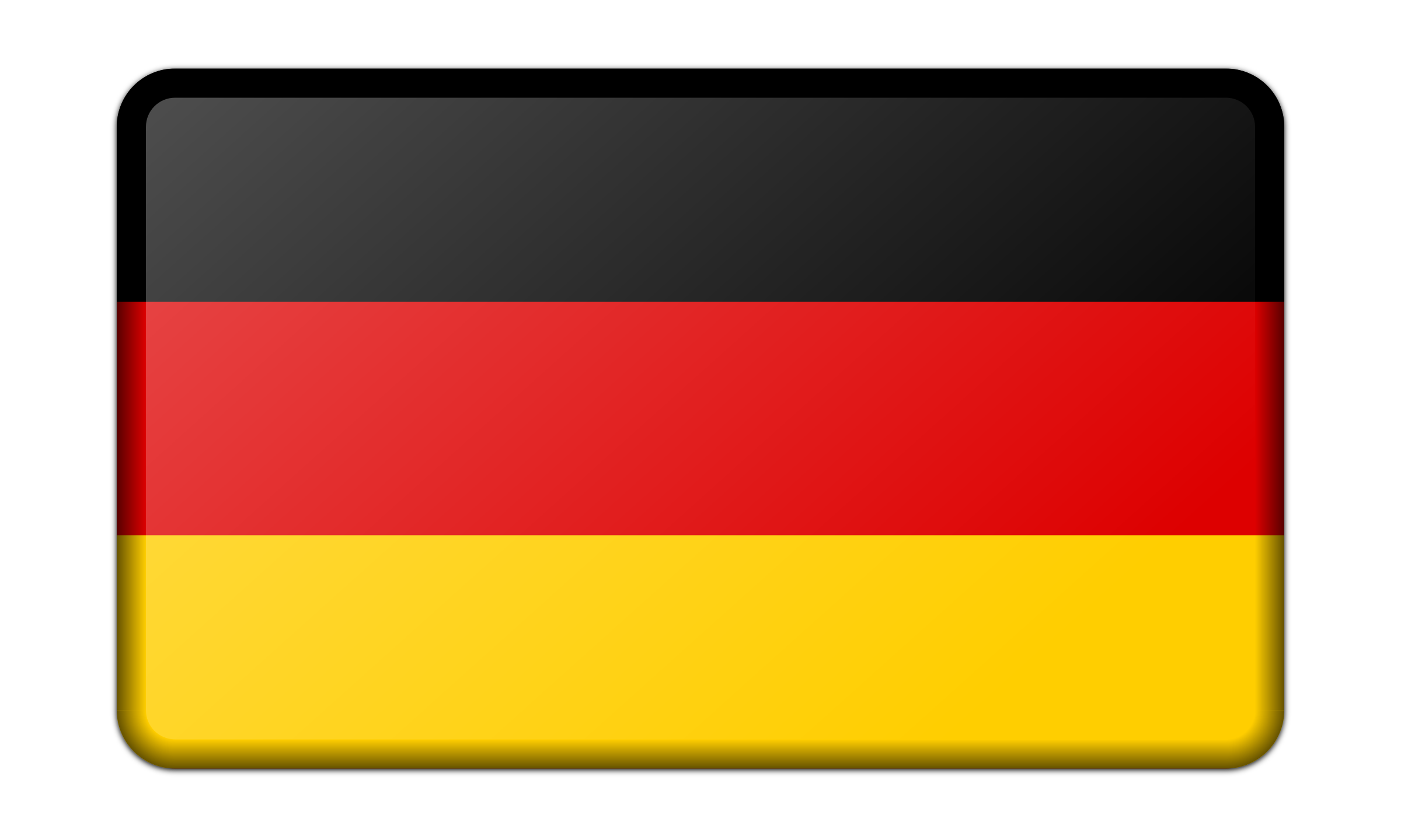 Flag of Germany (bevelled) by Firkin