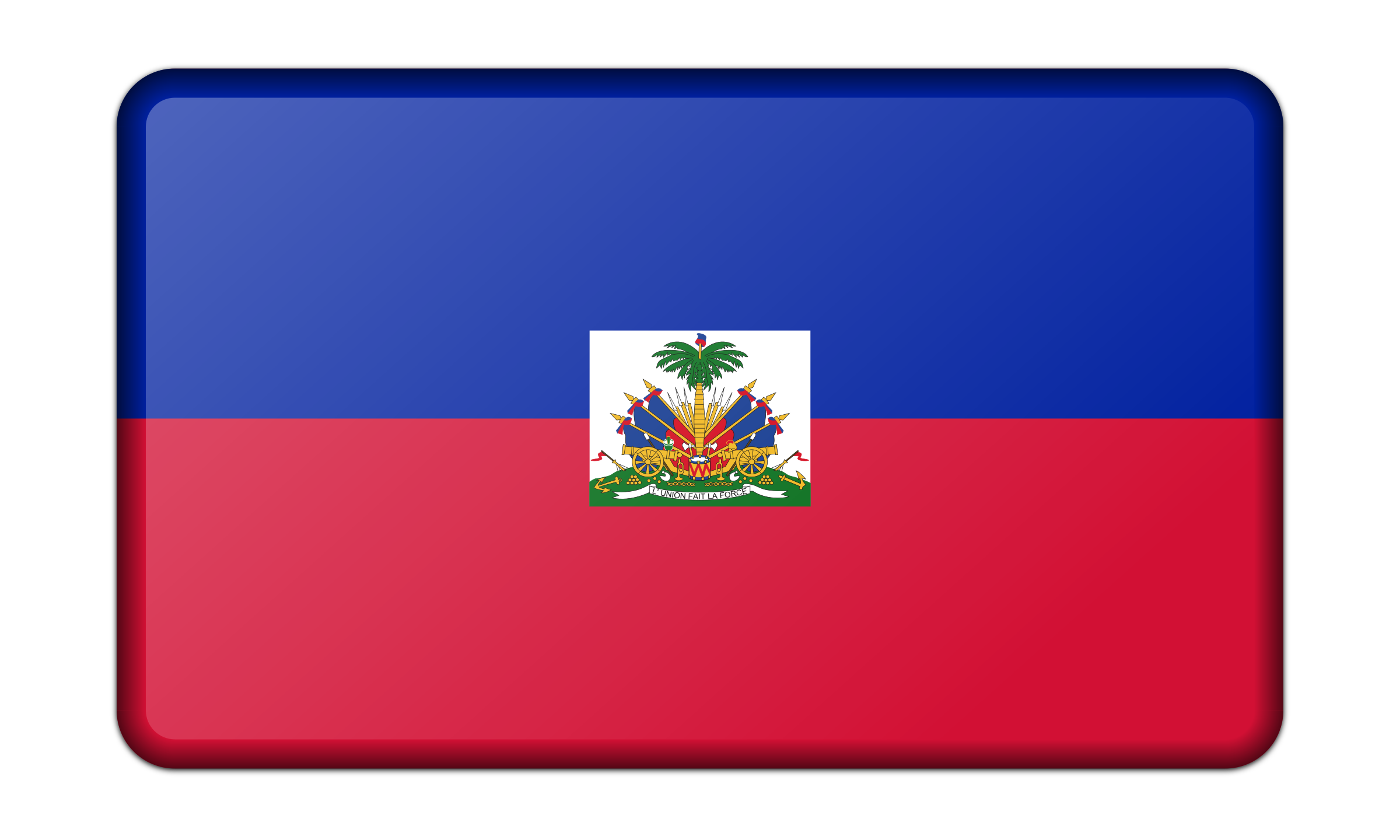Flag of Haiti (bevelled) by Firkin